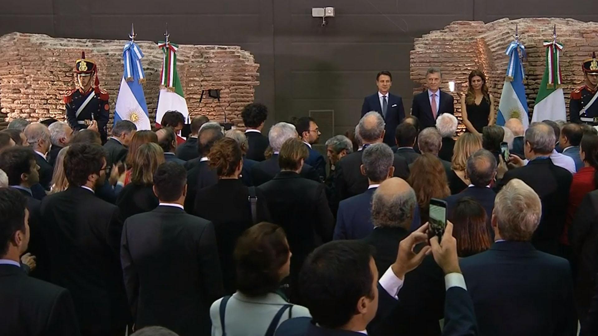 Macri junto al primer ministro de Italia Conte