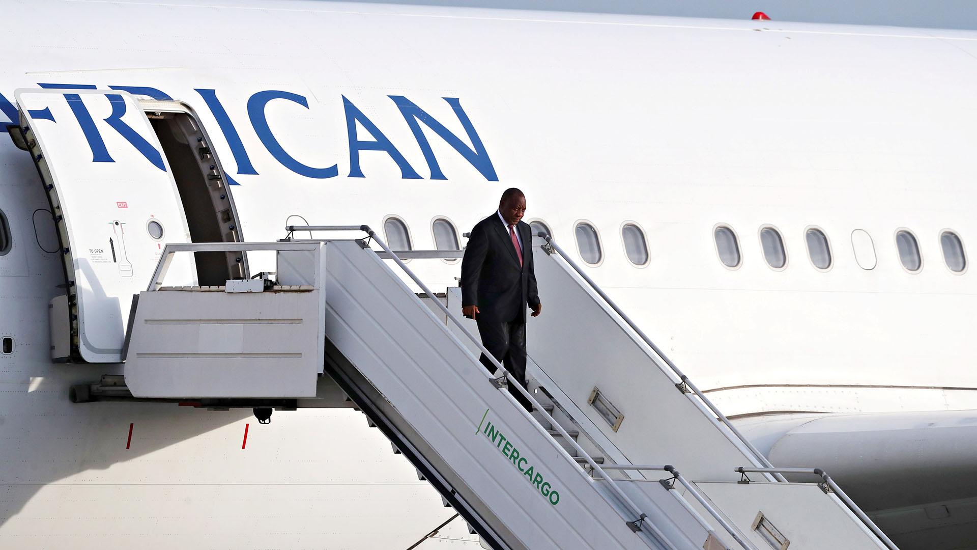 El presidente de Sudáfrica Cyril Ramaphosa