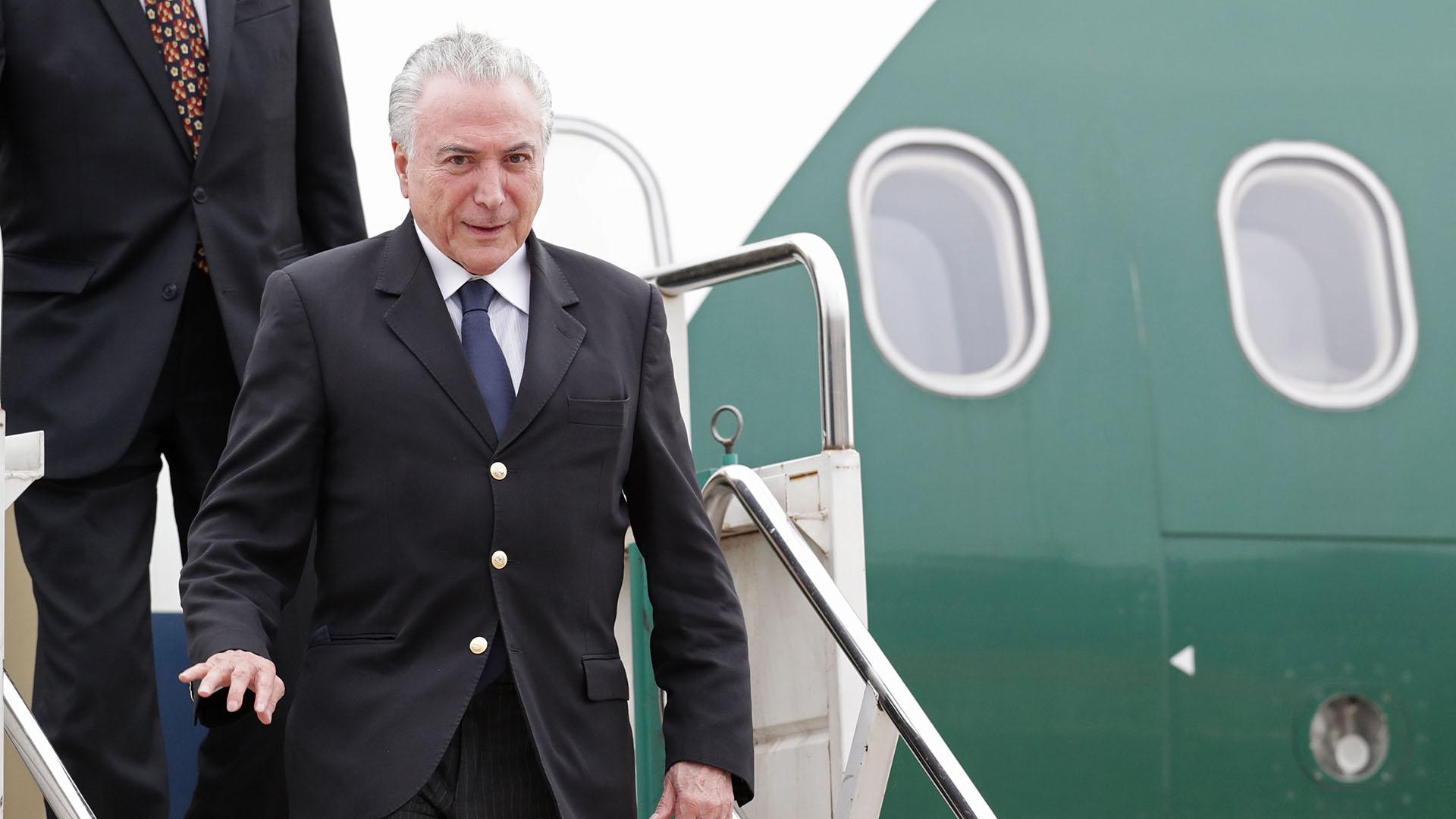 El saliente presidente de BrasilMichel Temer