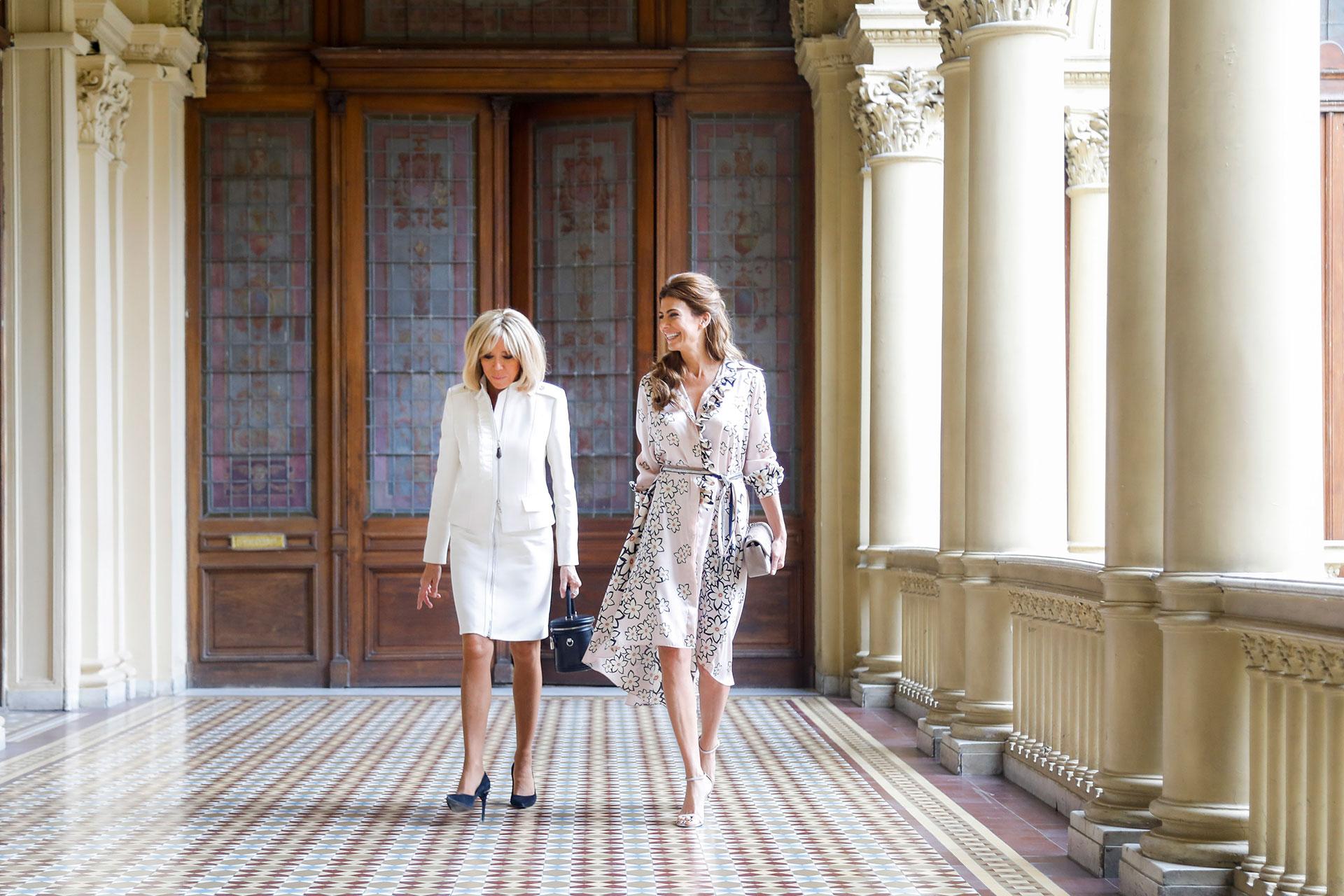 Awada y Brigite Macron recorrieron la Casa Rosada