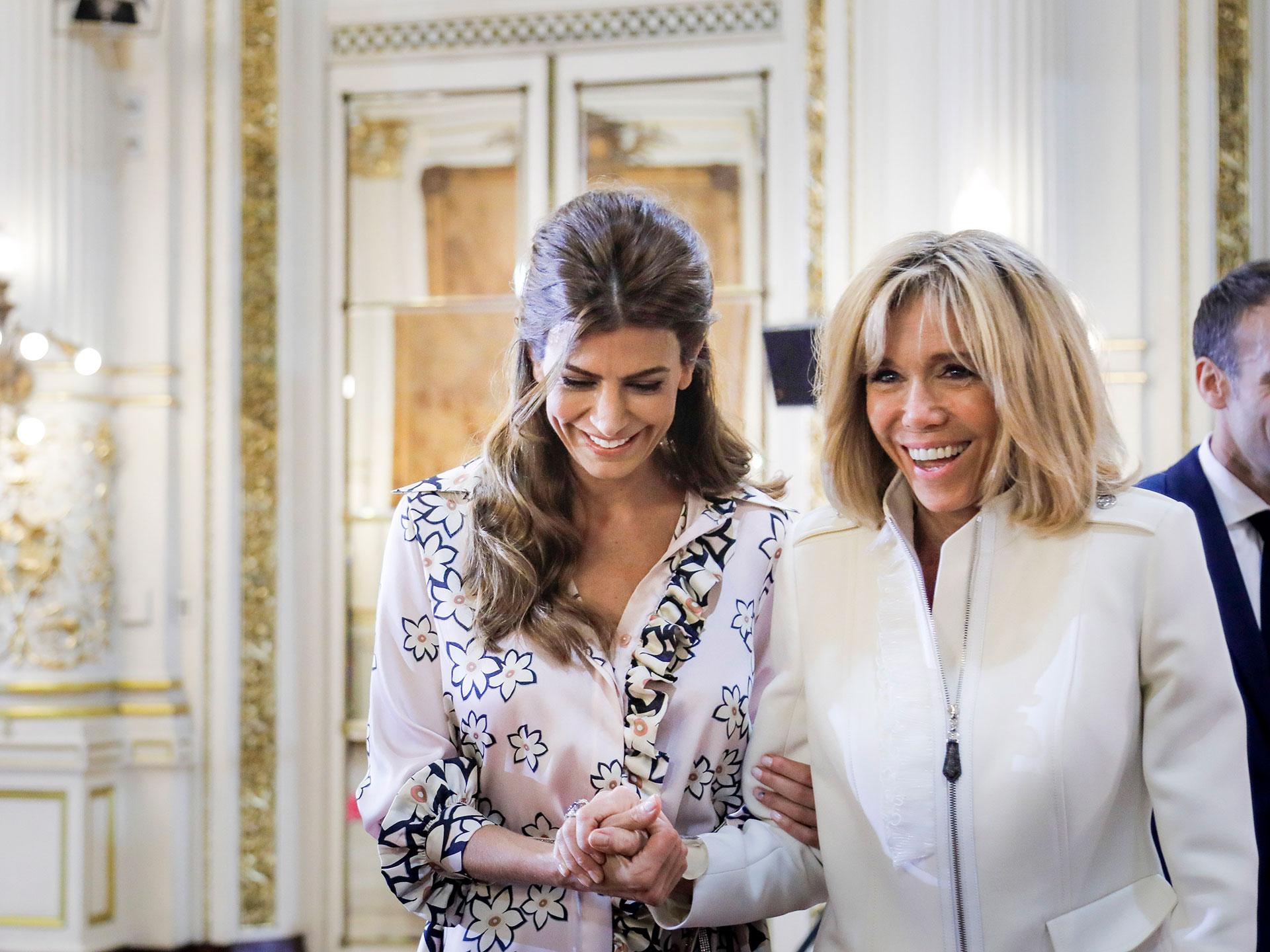 En un encuentro distendido, Juliana Awada recibió a Brigitte Macron