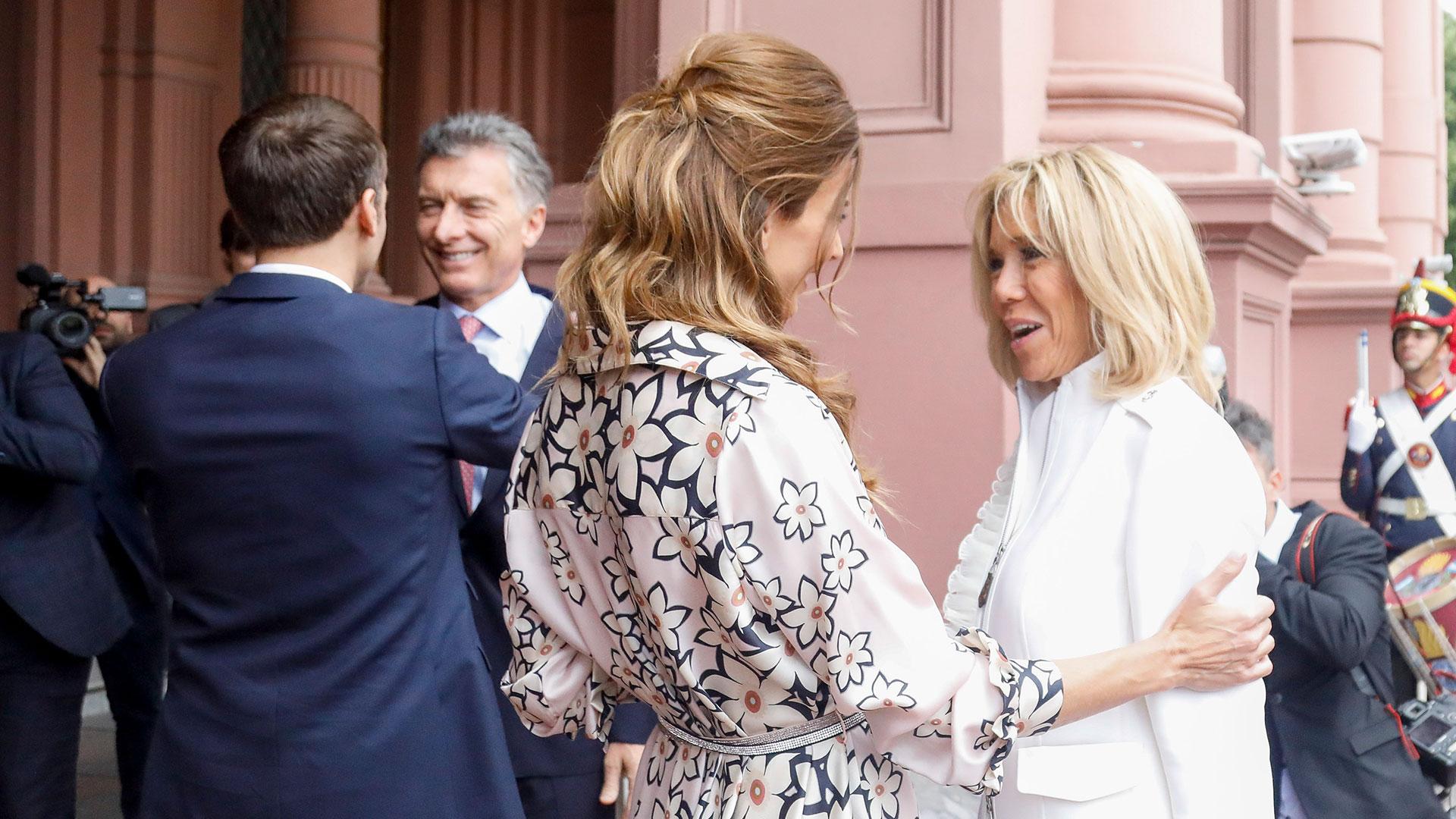 El saludo entre las primeras damas