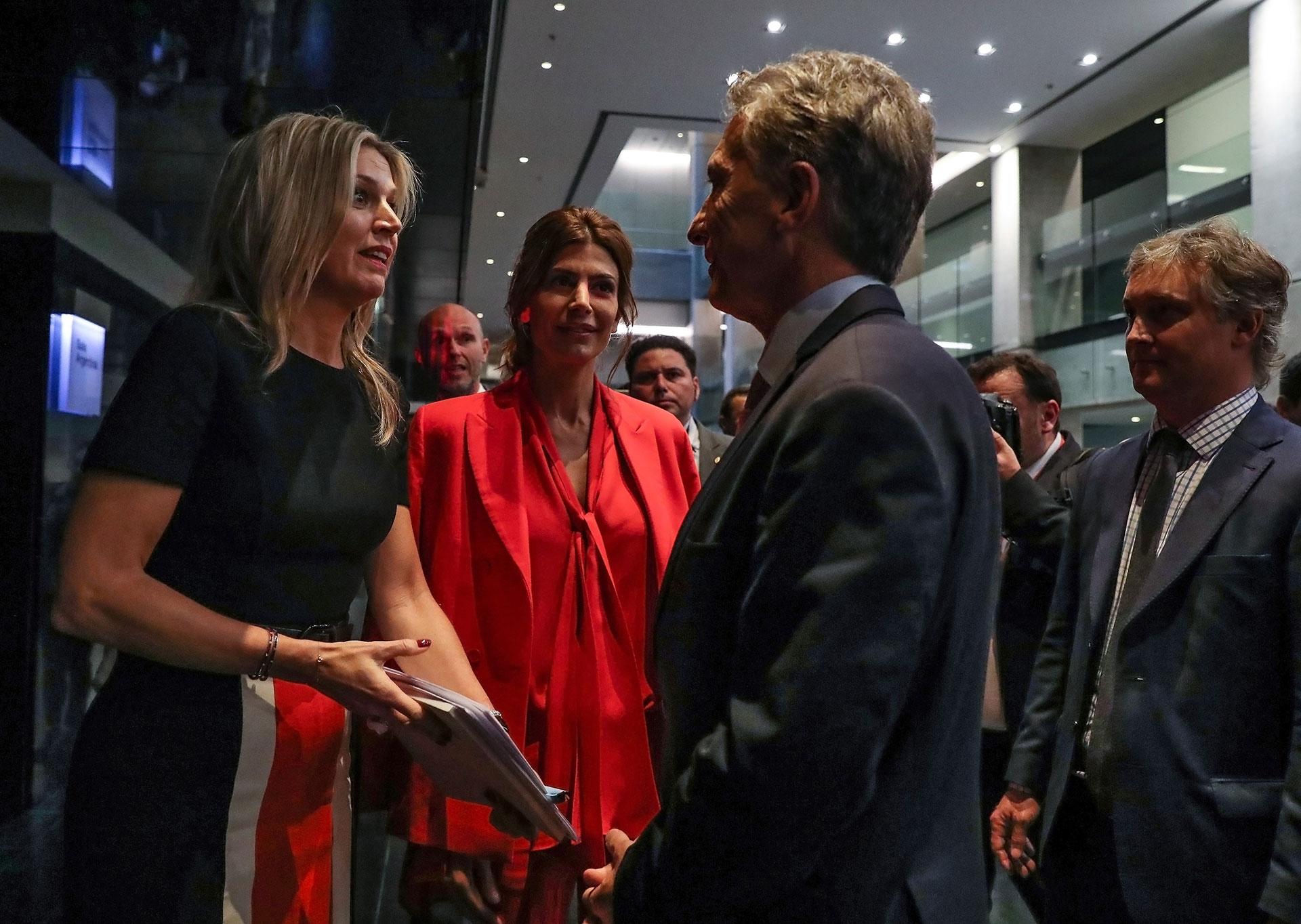 Macri y la reina Máxima de Holanda