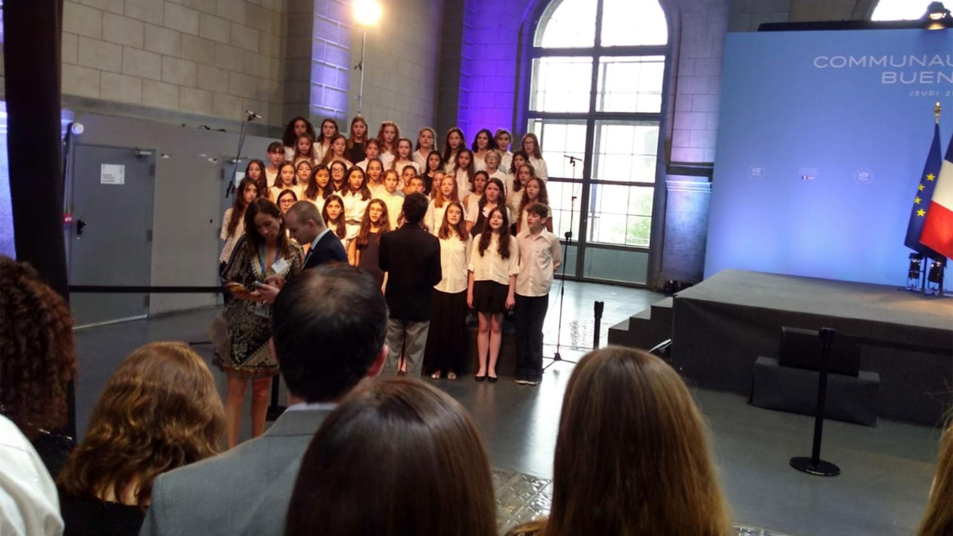 El coro que cantó la Marsellesa