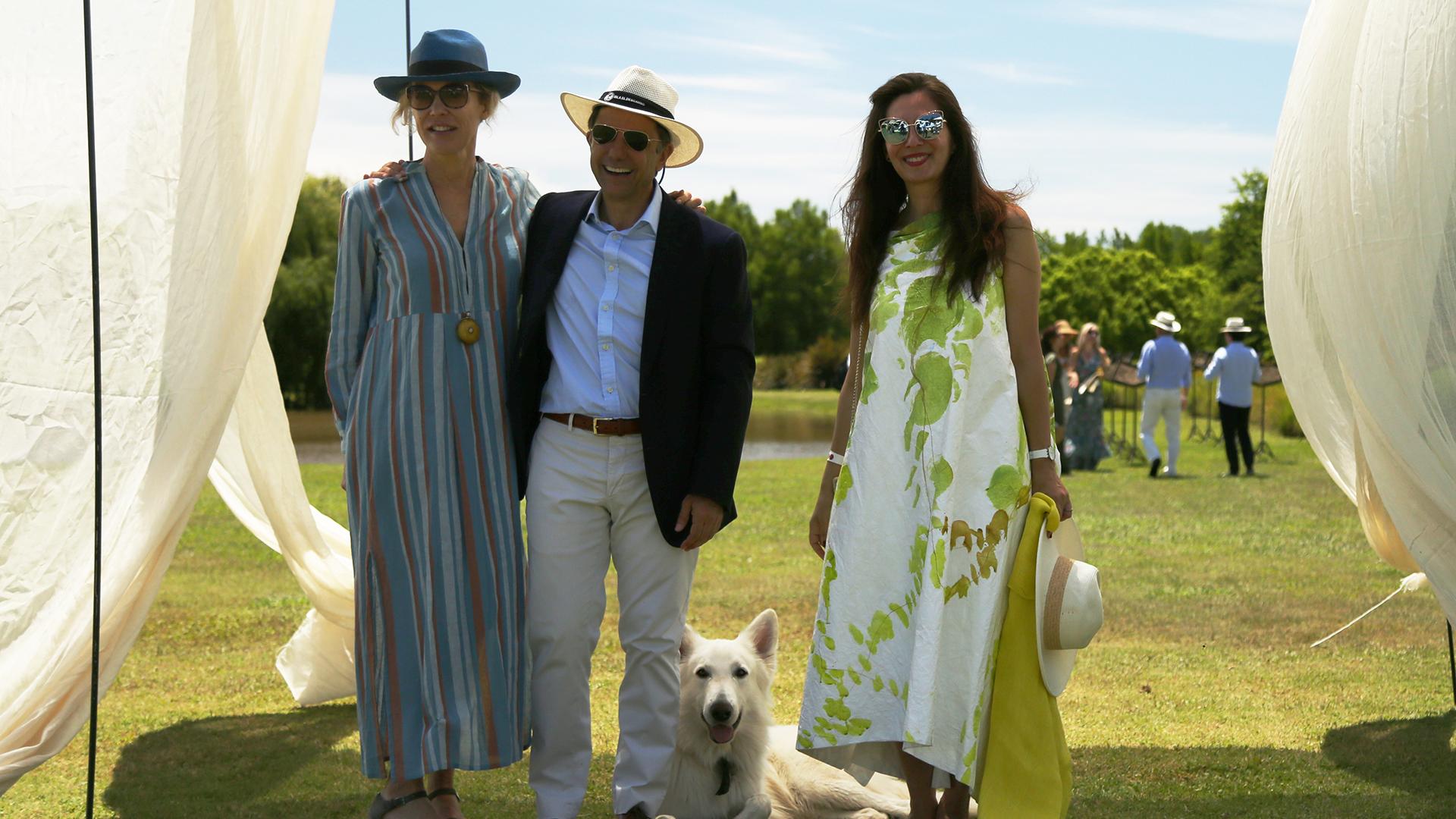 Alexandra de Royere, Claudio Stamato y Paula Toto Blaque