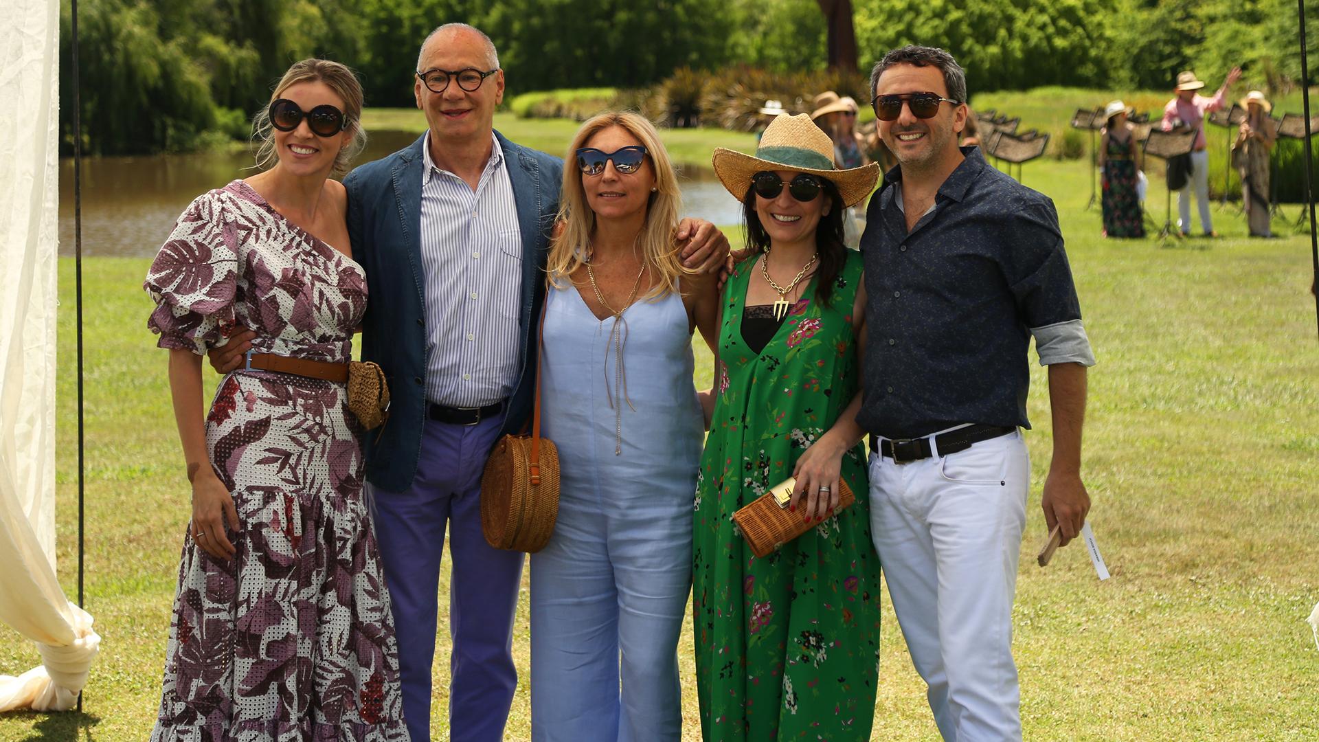 Eliana Castaño, Abel Guaglianone, Daniela Marcuzzi, Larisa Andreani y David Tonconogy