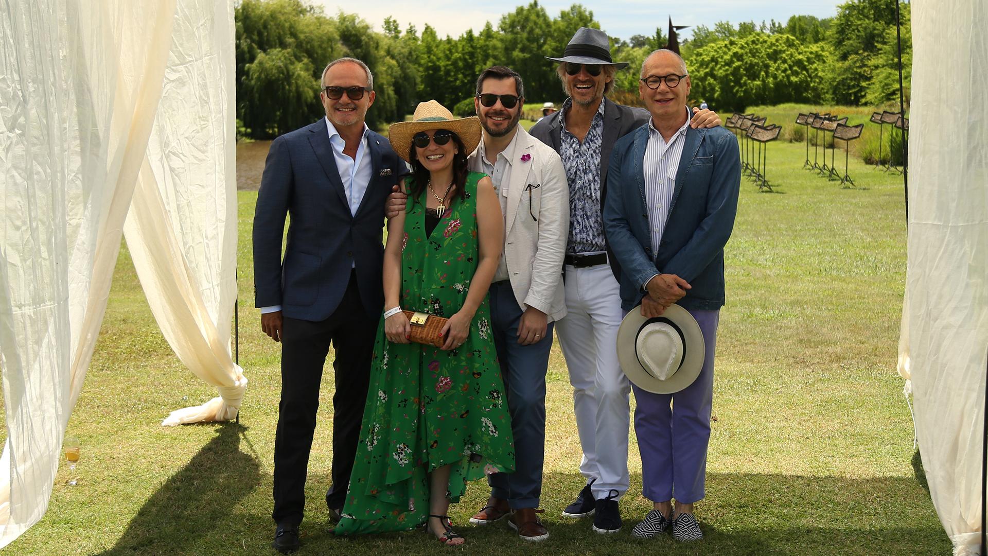 Sebastián Miranda, Larisa Andreani, Joaquín Rodríguez, Francisco Bosch y Abel Guaglianone
