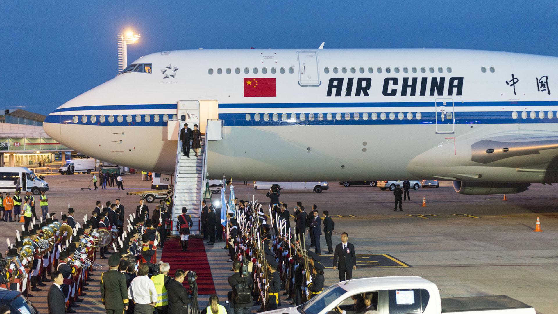 El avión del mandatario chino