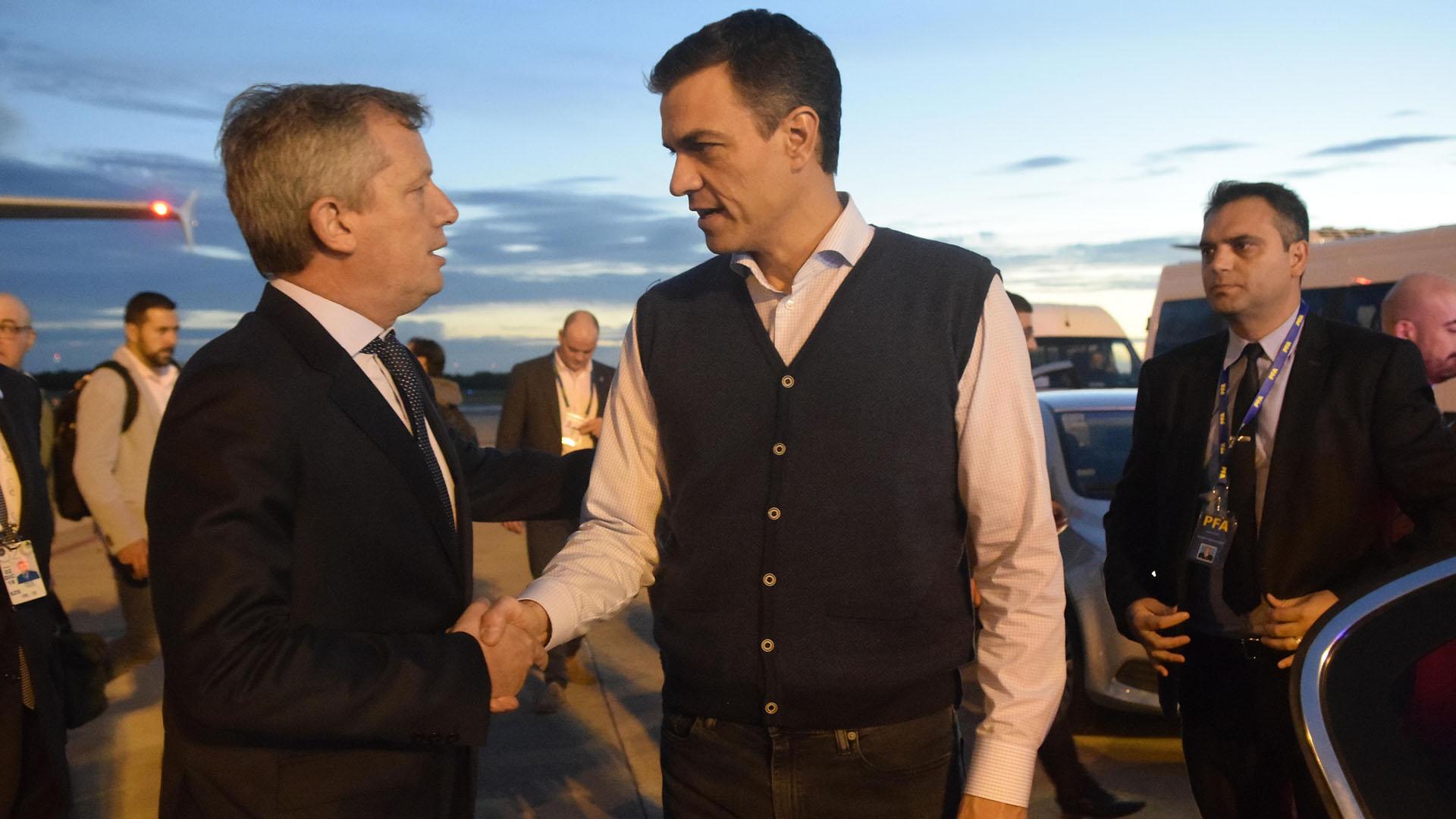Emilio Monzó, presidente de la Cámara de Diputados, recibió al presidente del gobierno español Pedro Sánchez