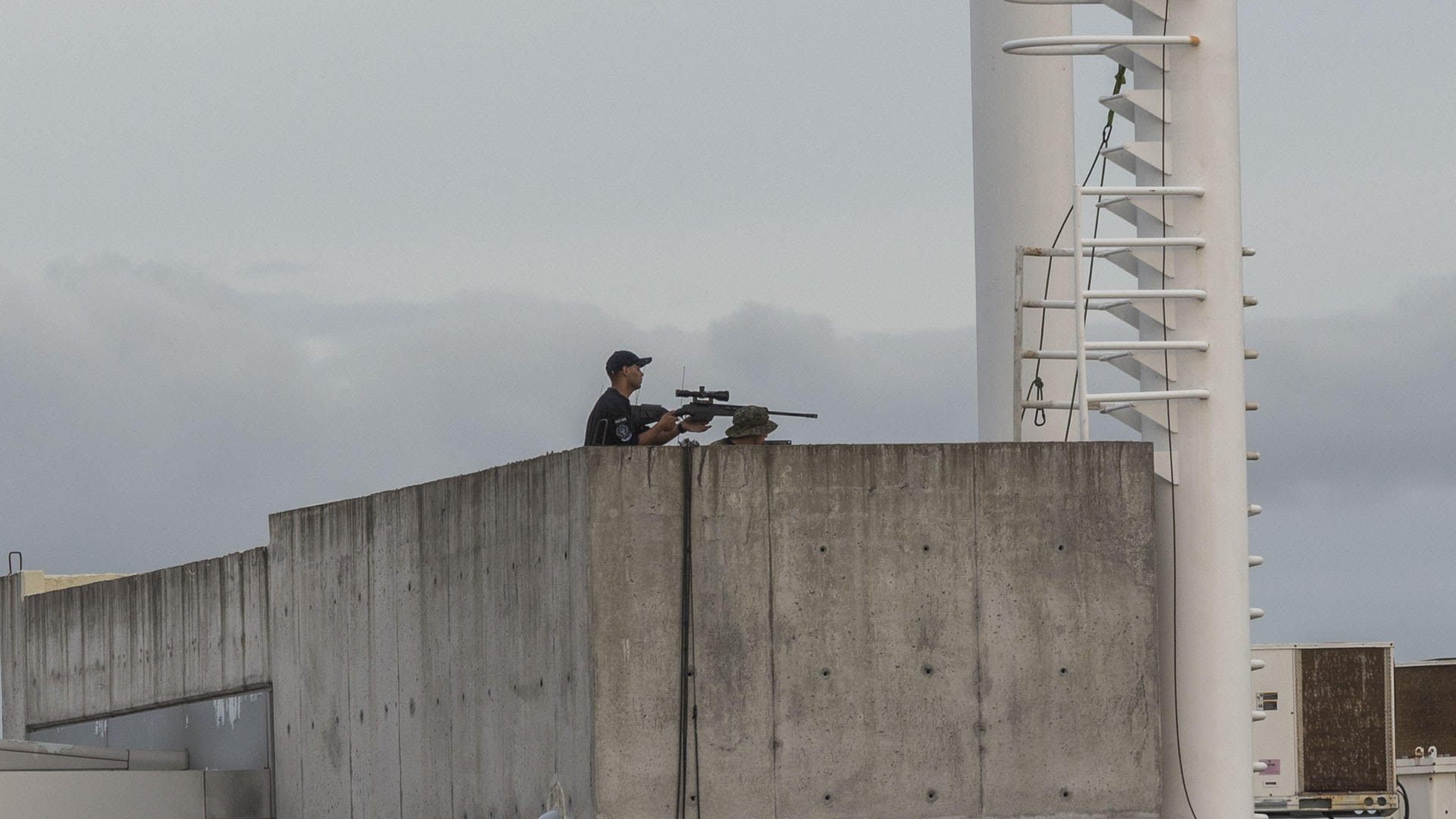 Uno de los francotiradores