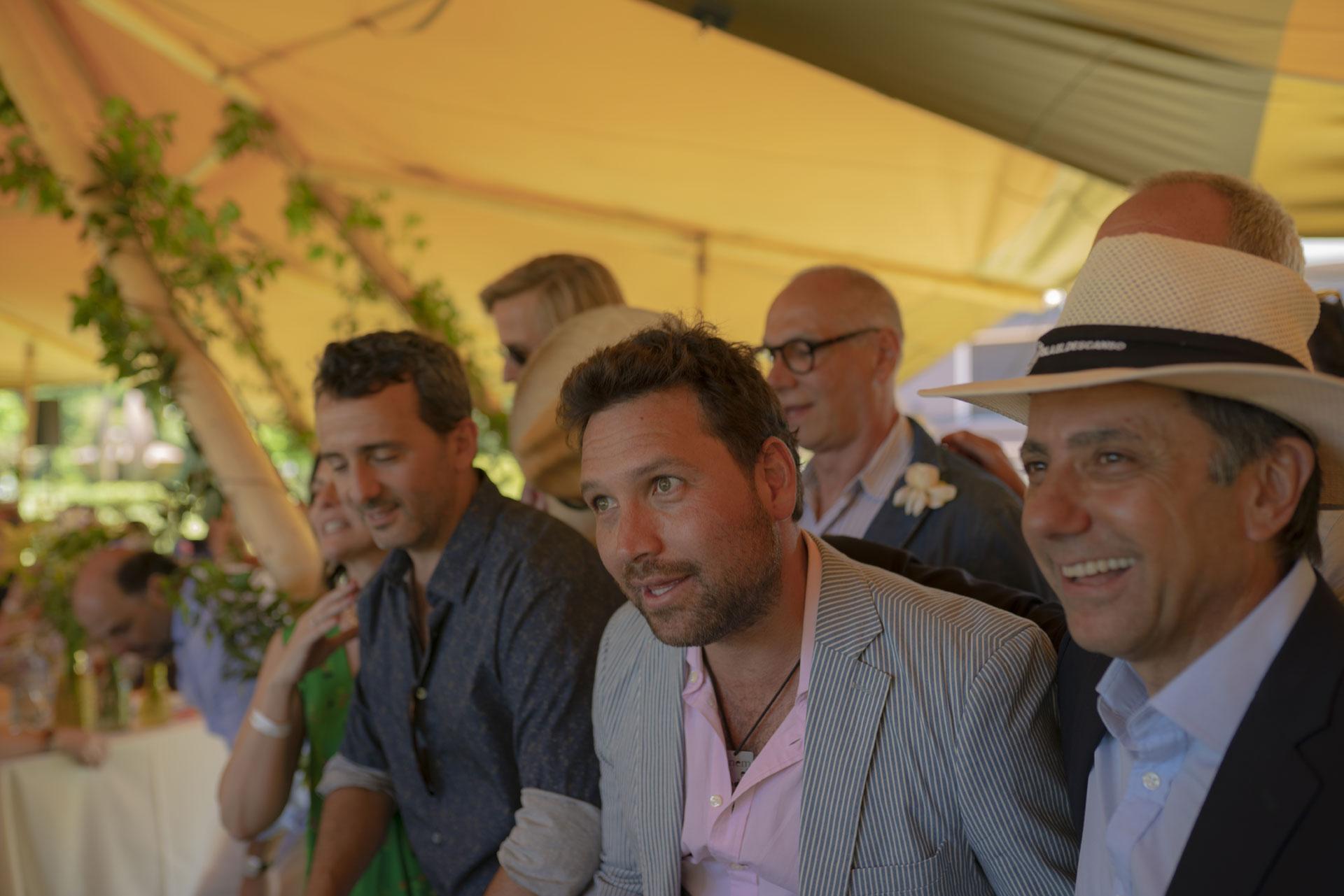 Felipe Durán y Claudio Stamato, dueños de la isla donde se llevó a cabo el gran evento