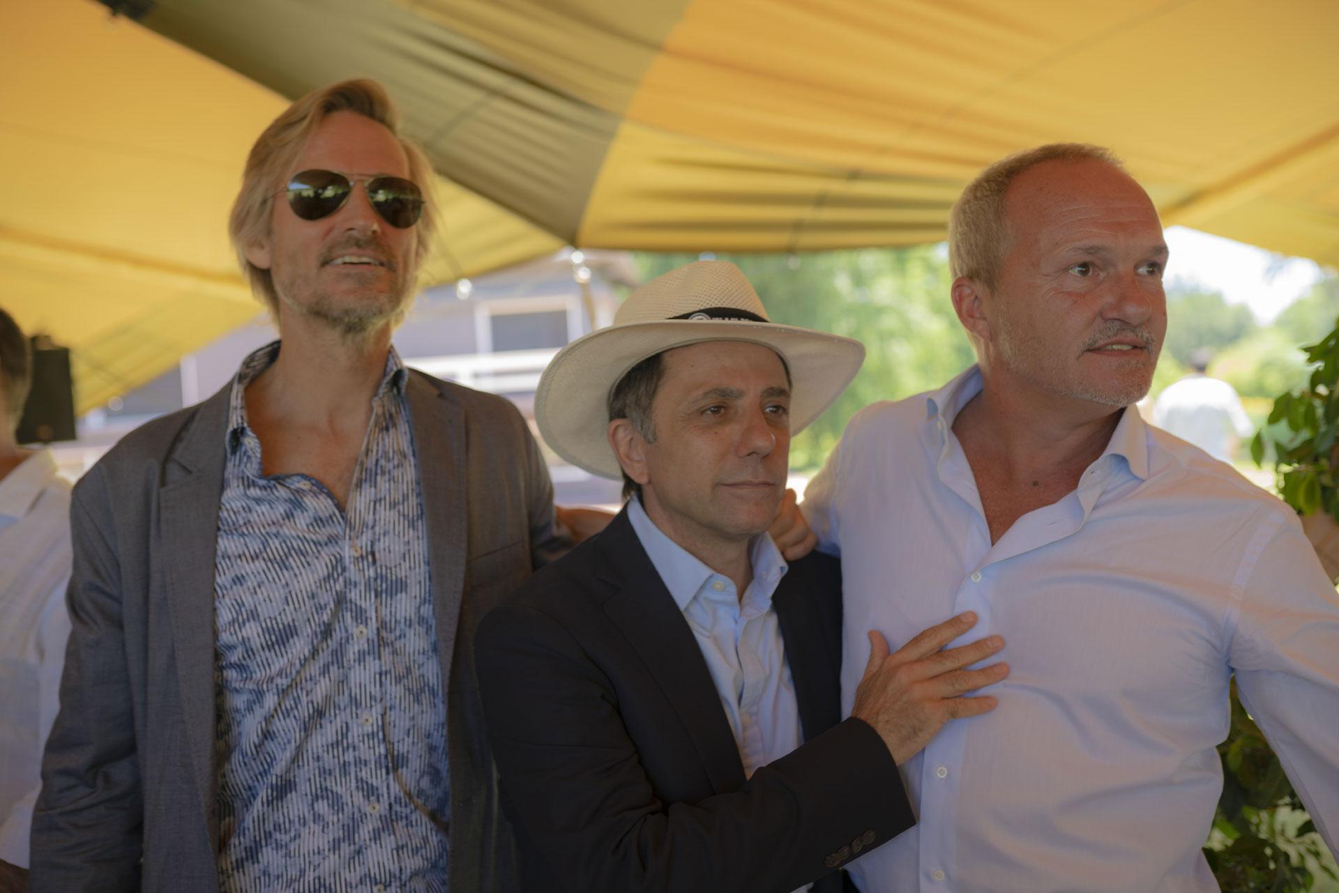Francisco Bosch, Claudio Stamato y Sebastián Miranda