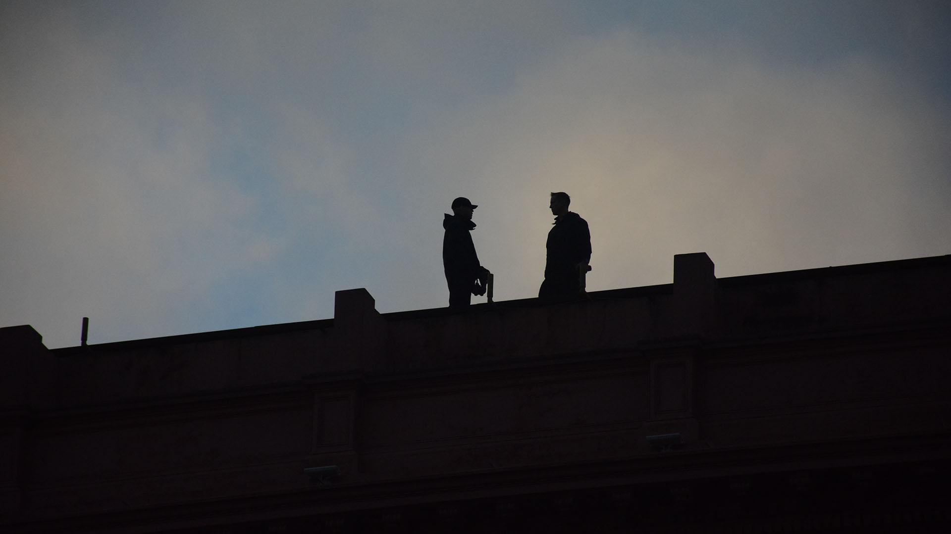 Francotiradores se instalaron en los techos de los edificios del centro de la ciudad de Buenos Aires