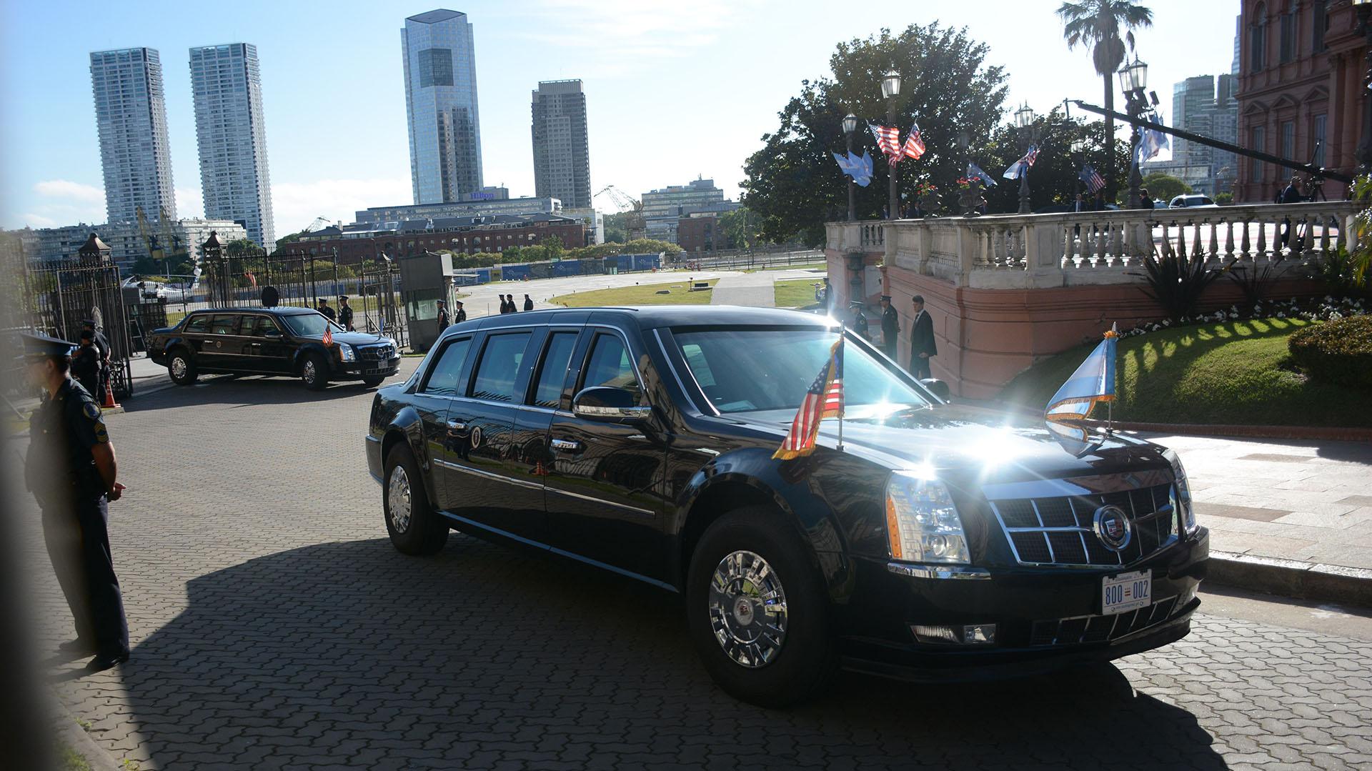 La Bestia, el auto que traslada al presidente norteamericano