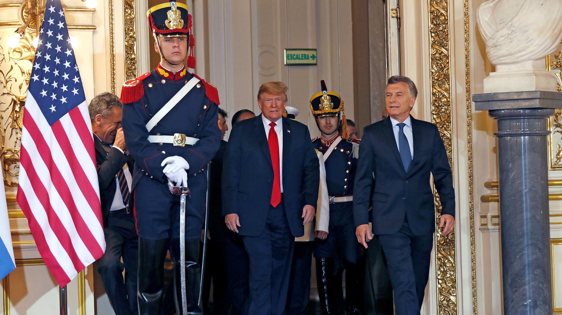 Donald Trumpy Mauricio Macri en la Casa Rosada