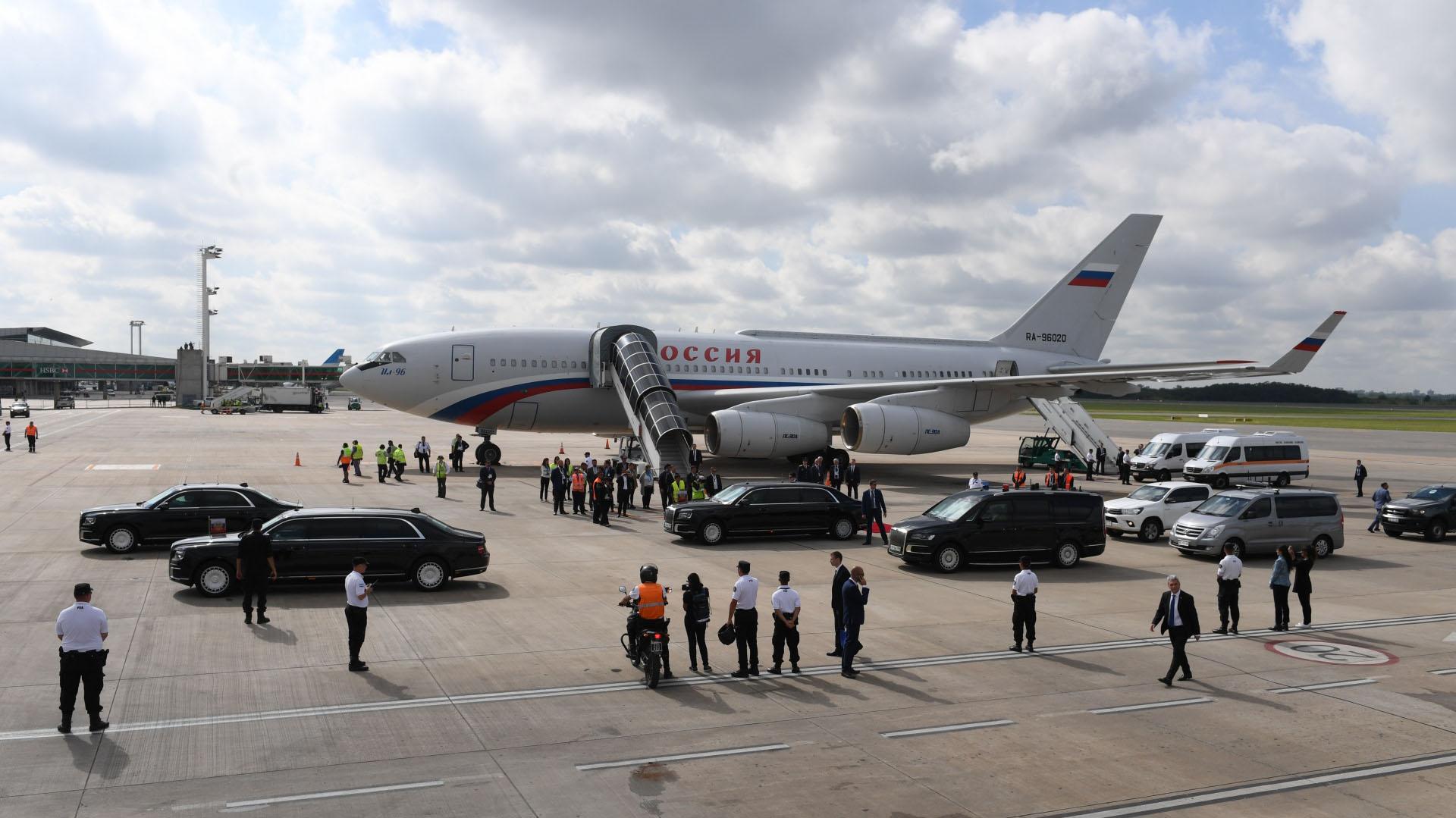 El avión de la Federación Rusa
