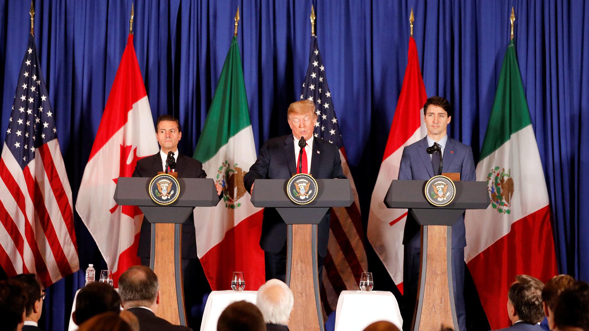 Los presidentes norteamericanos firmaron un nuevo tratado de libre comercio