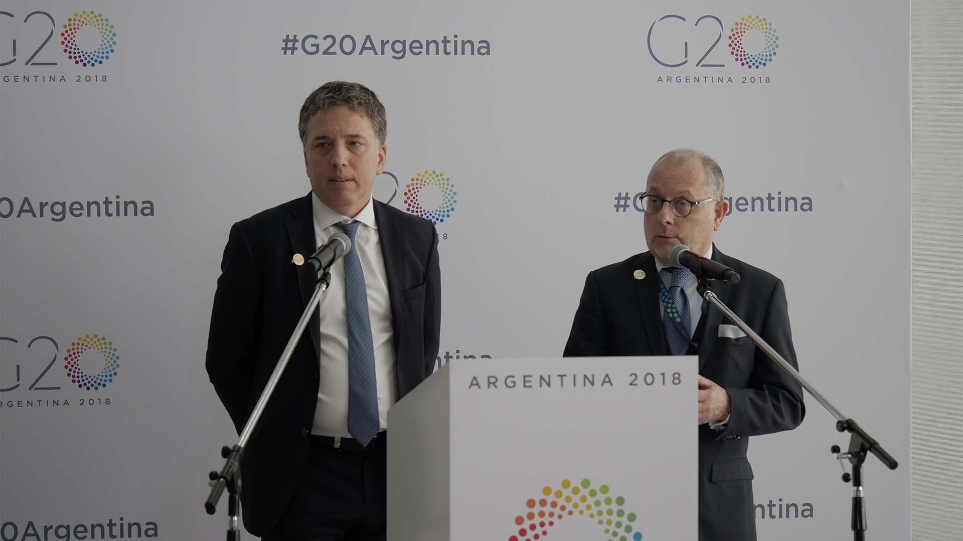 El ministro de Hacienda Nicolás Dujovne y el Canciller Jorge Faurie