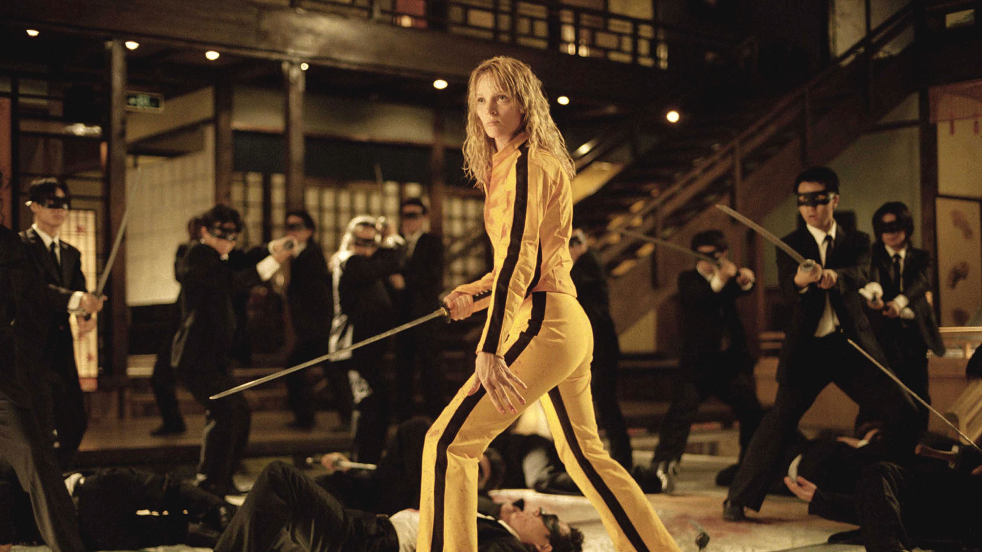 Uma Thurman como Beatrix Kiddo en Kill Bill