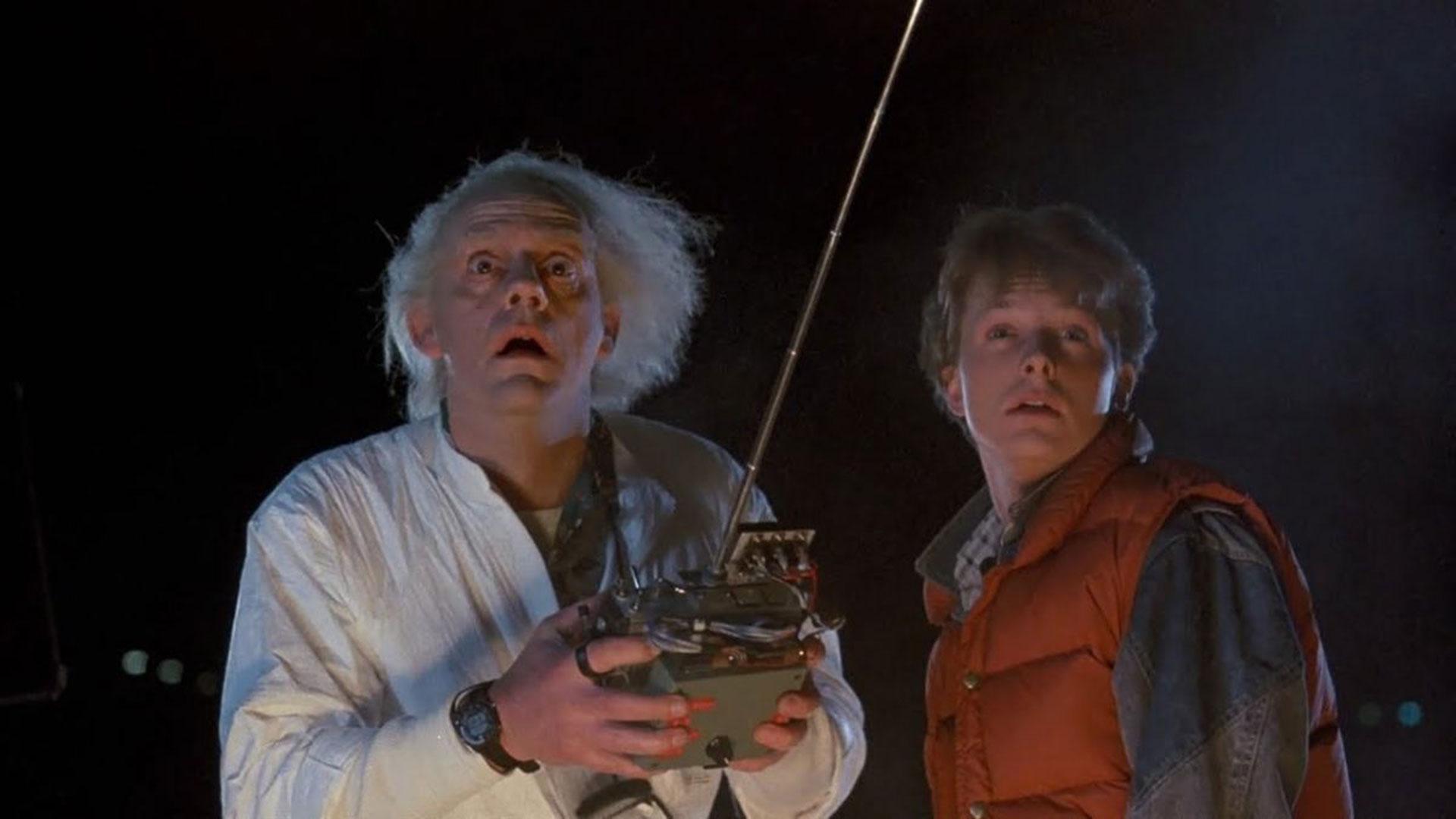 Volver al Futuro, protagonizada por Christopher Llloyd y Michael J. Fox