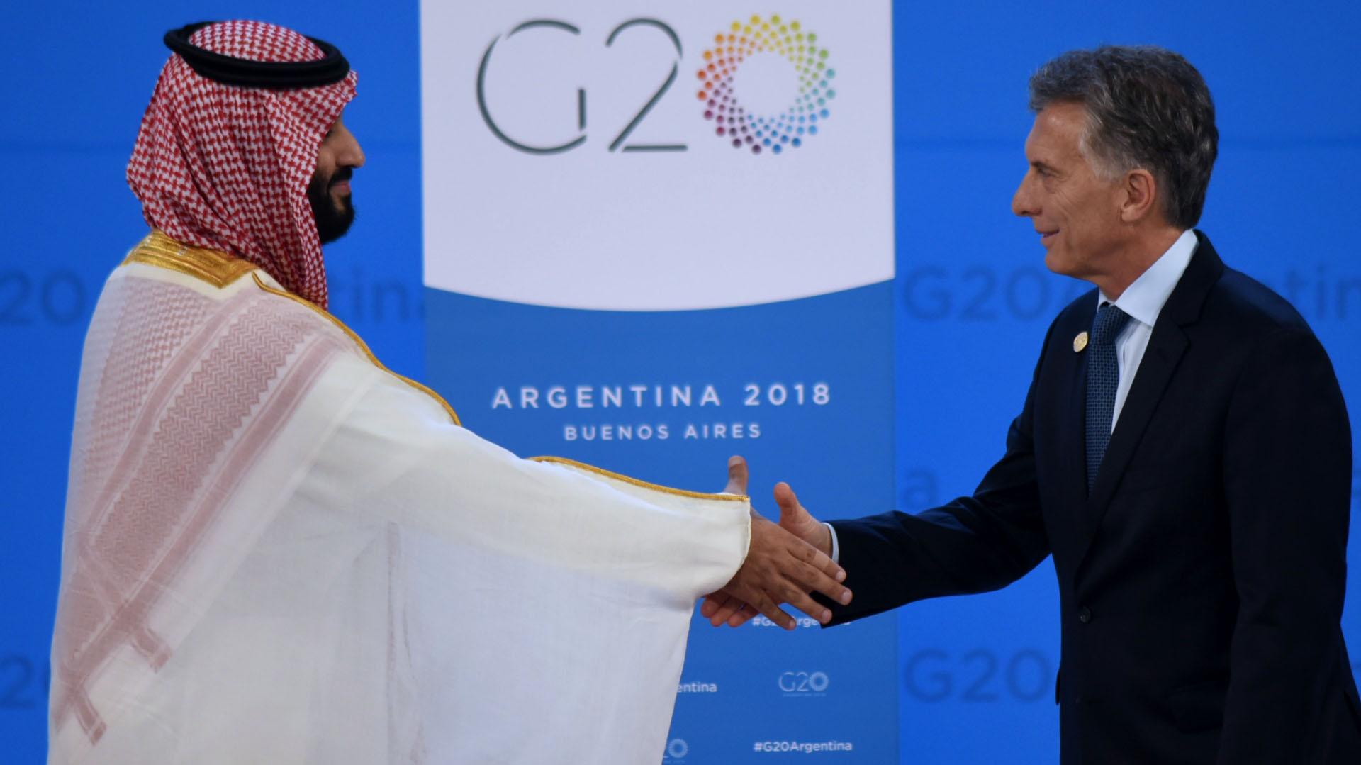 Macri y Mohammed bin Salman