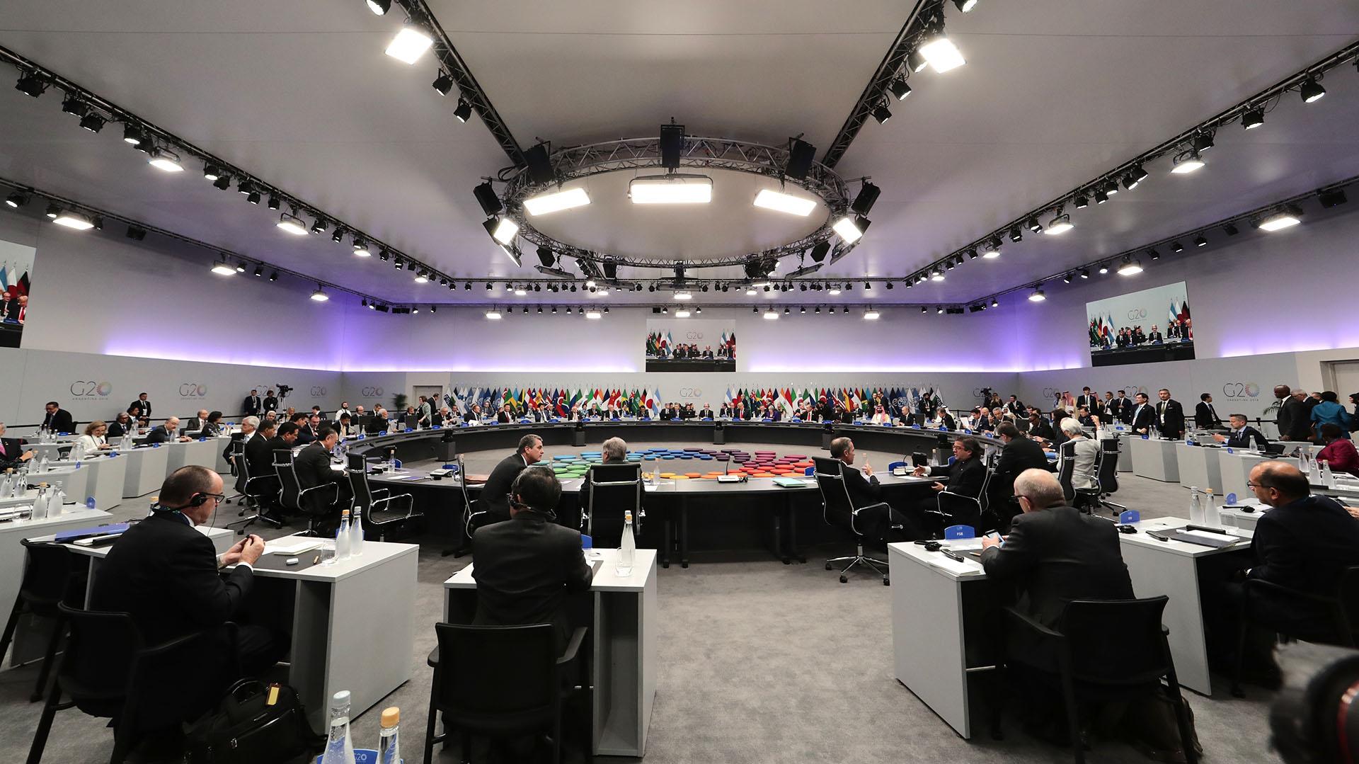 El hall donde se realizó el plenario de presidentes
