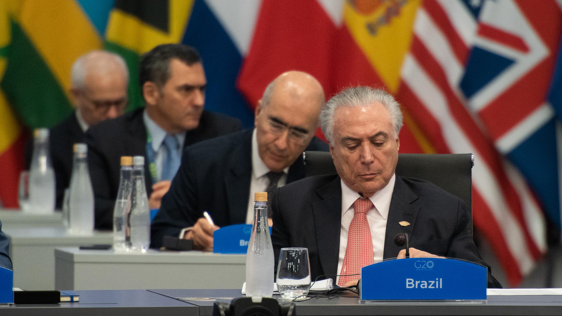 El mandatario brasileño saliente, Michel Temer