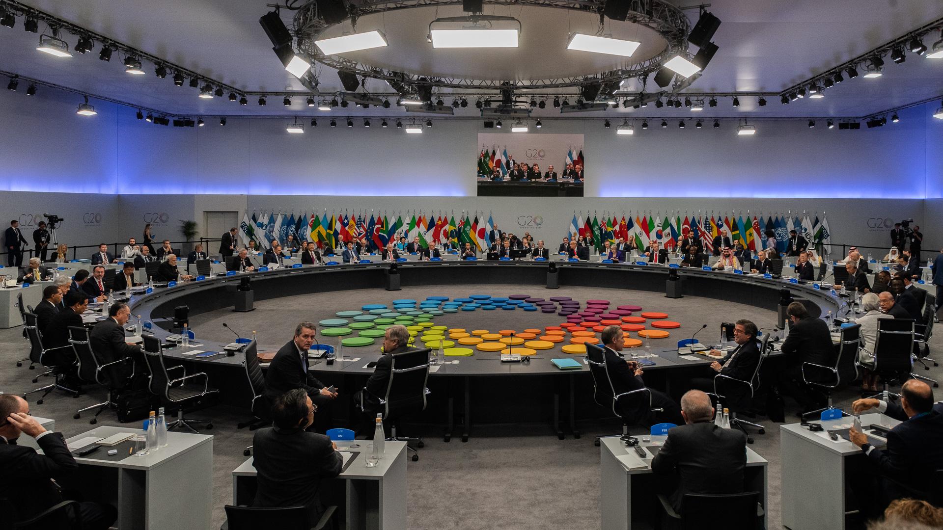La reunión de presidentes del G20