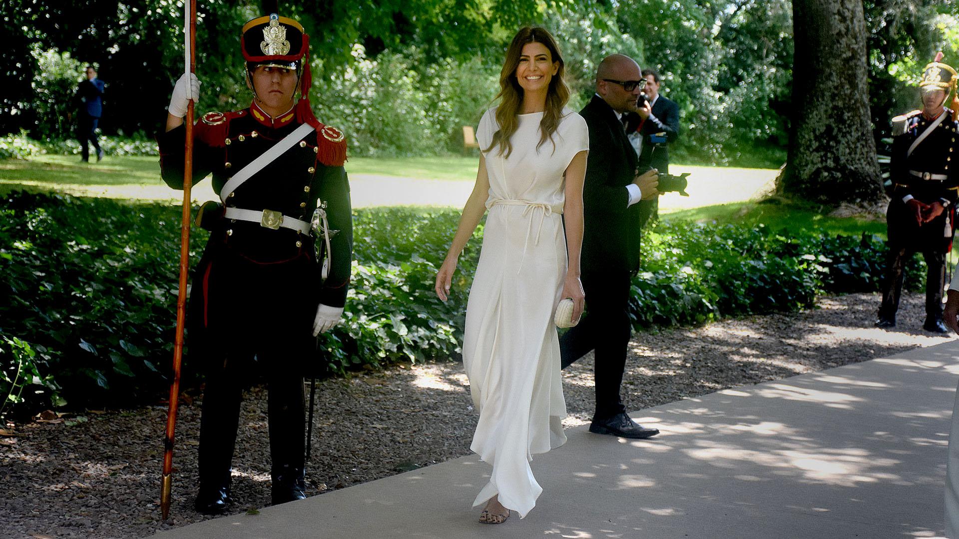 Juliana Awada ofició de anfitriona en la recepción de Villa Ocampo