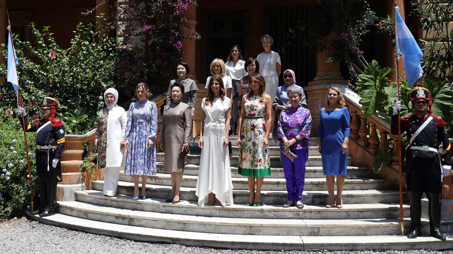La foto oficial del encuentro de primeras damas (REUTERS/Pilar Olivares)