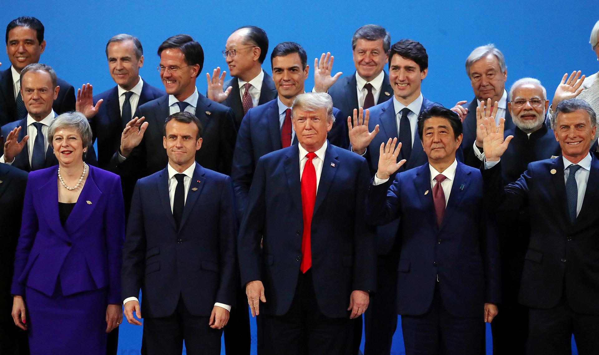 Los presidentes en la tradicional foto de familia (Reuters)