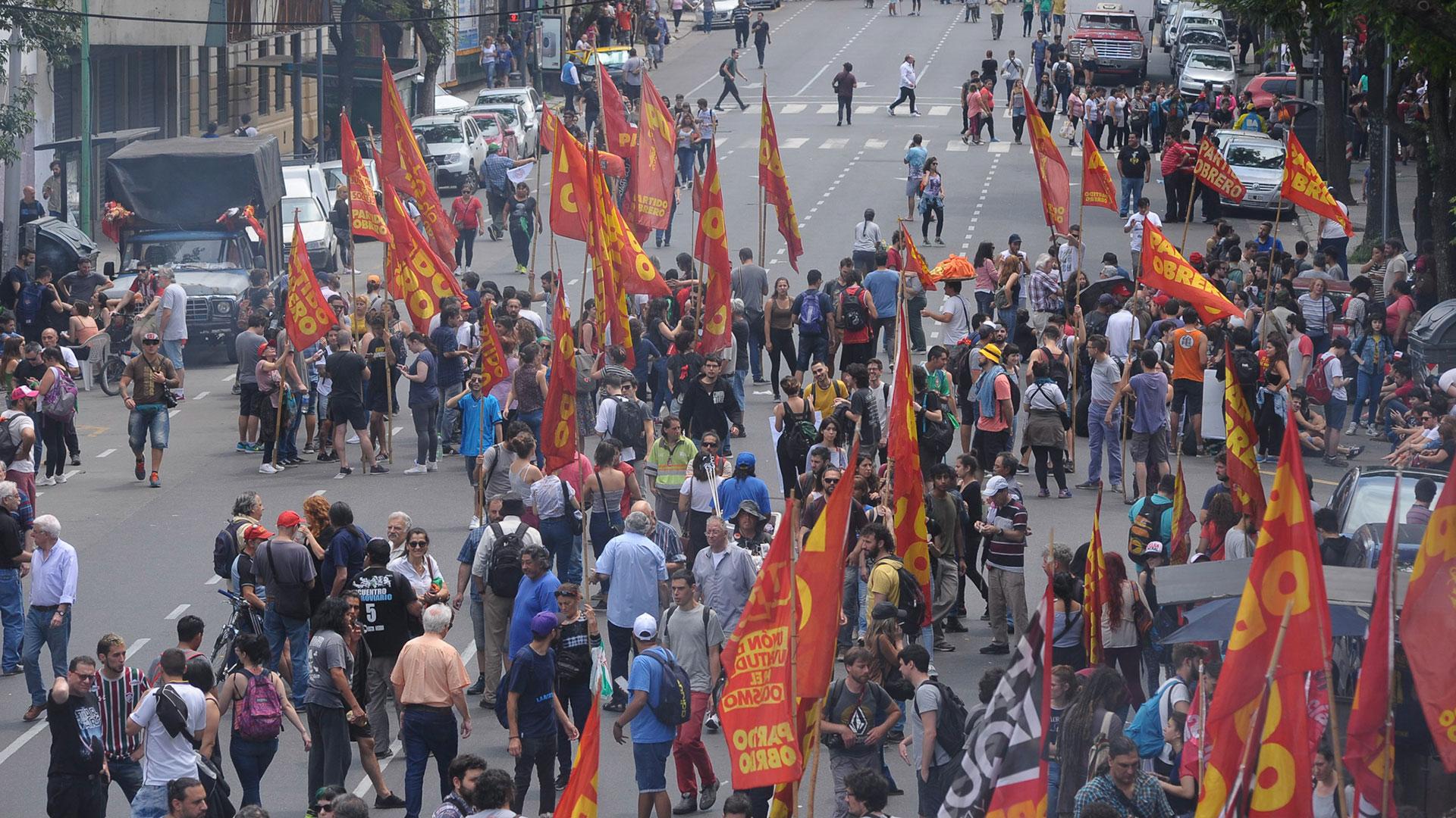 El Polo Obrero ocupó unas de las columnas centrales de la marcha