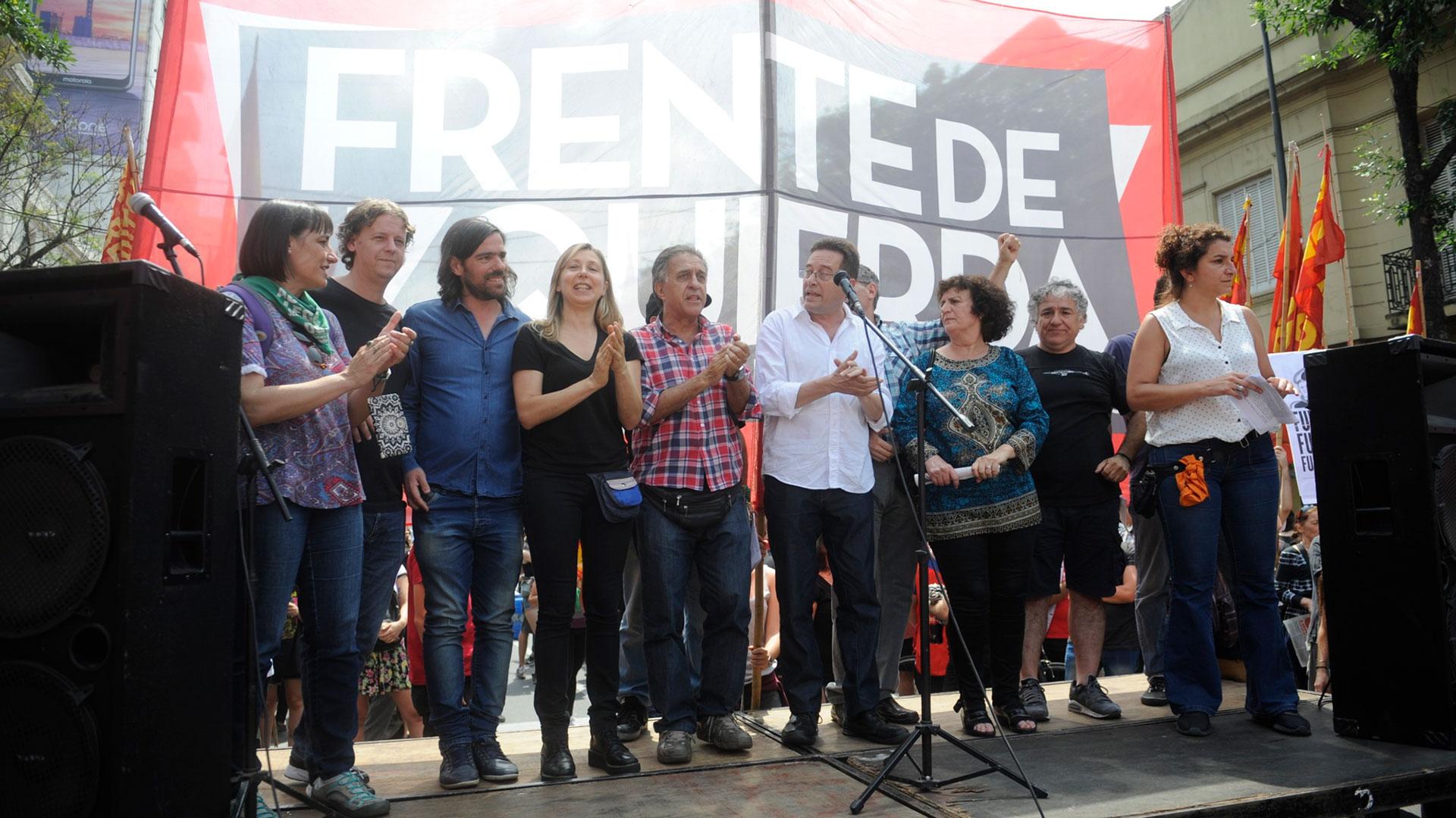 Los dirigentes de izquierda se unieron para expresar el rechazo a la organización del G20
