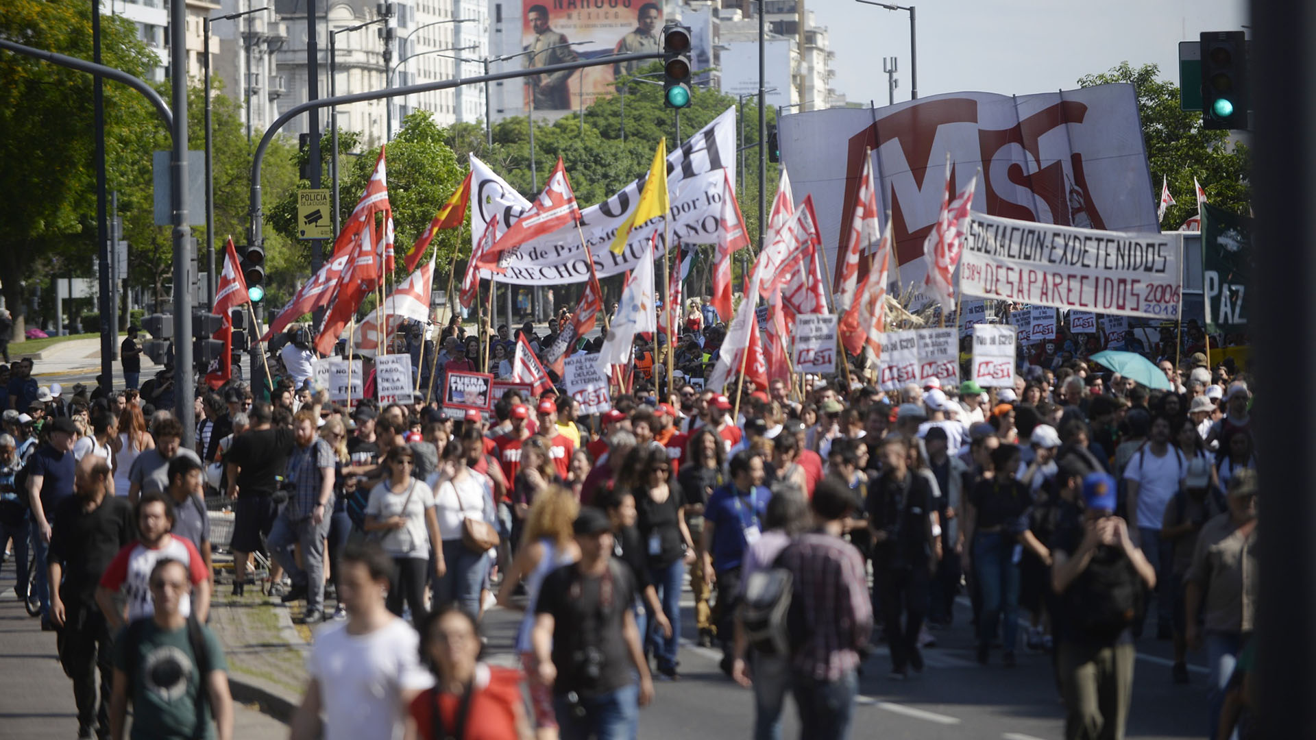 Durante la protesta hubo críticas al presidente de Argentina, Mauricio Macri, y a su gestión