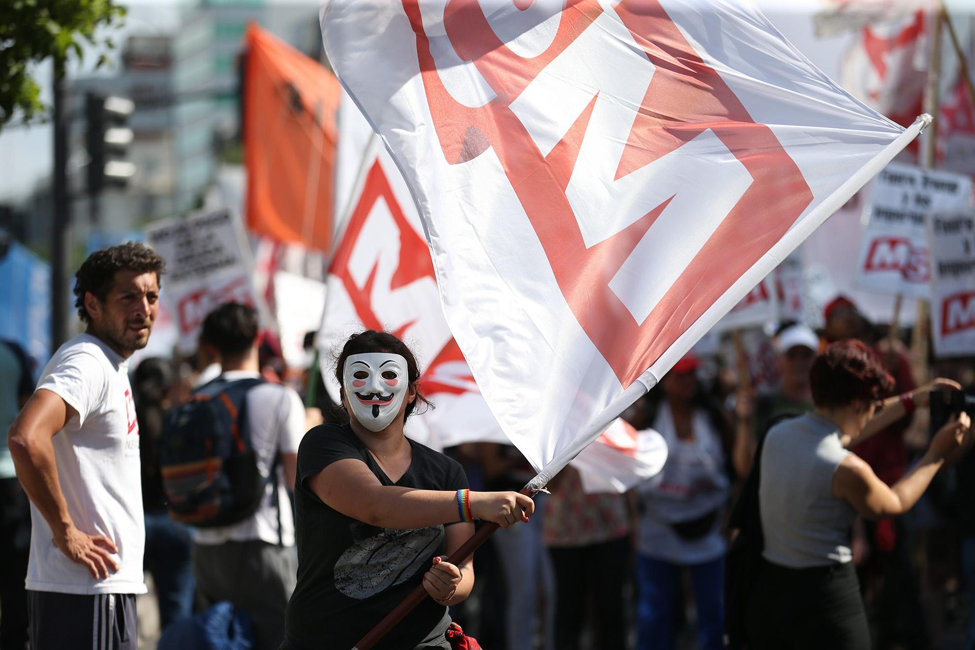 La marcha tuvo como principal consigna protestar contra la realización del G20