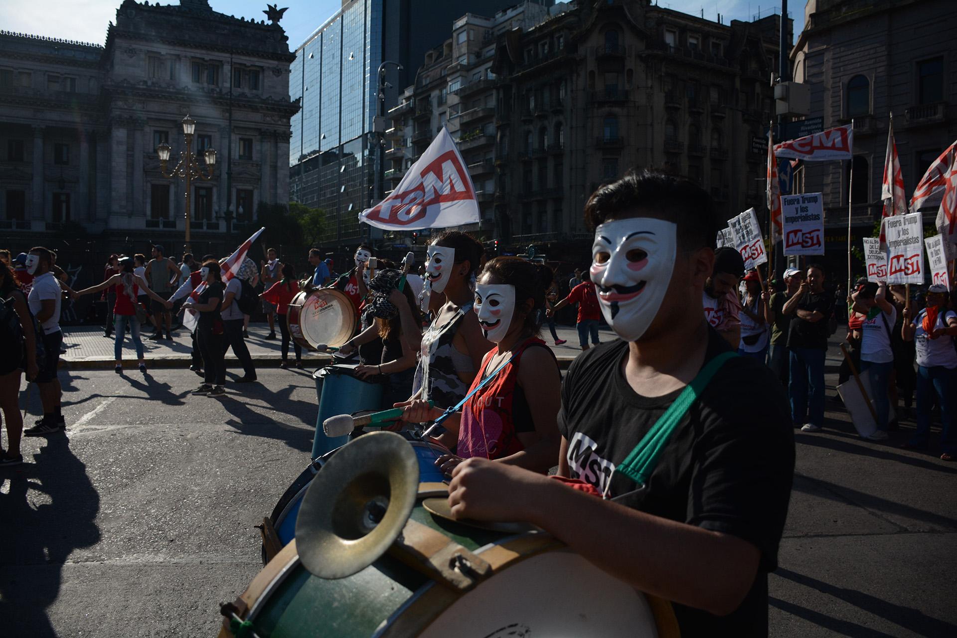La protesta se llevó a cabo en la zona cercana al Congreso de la Nación