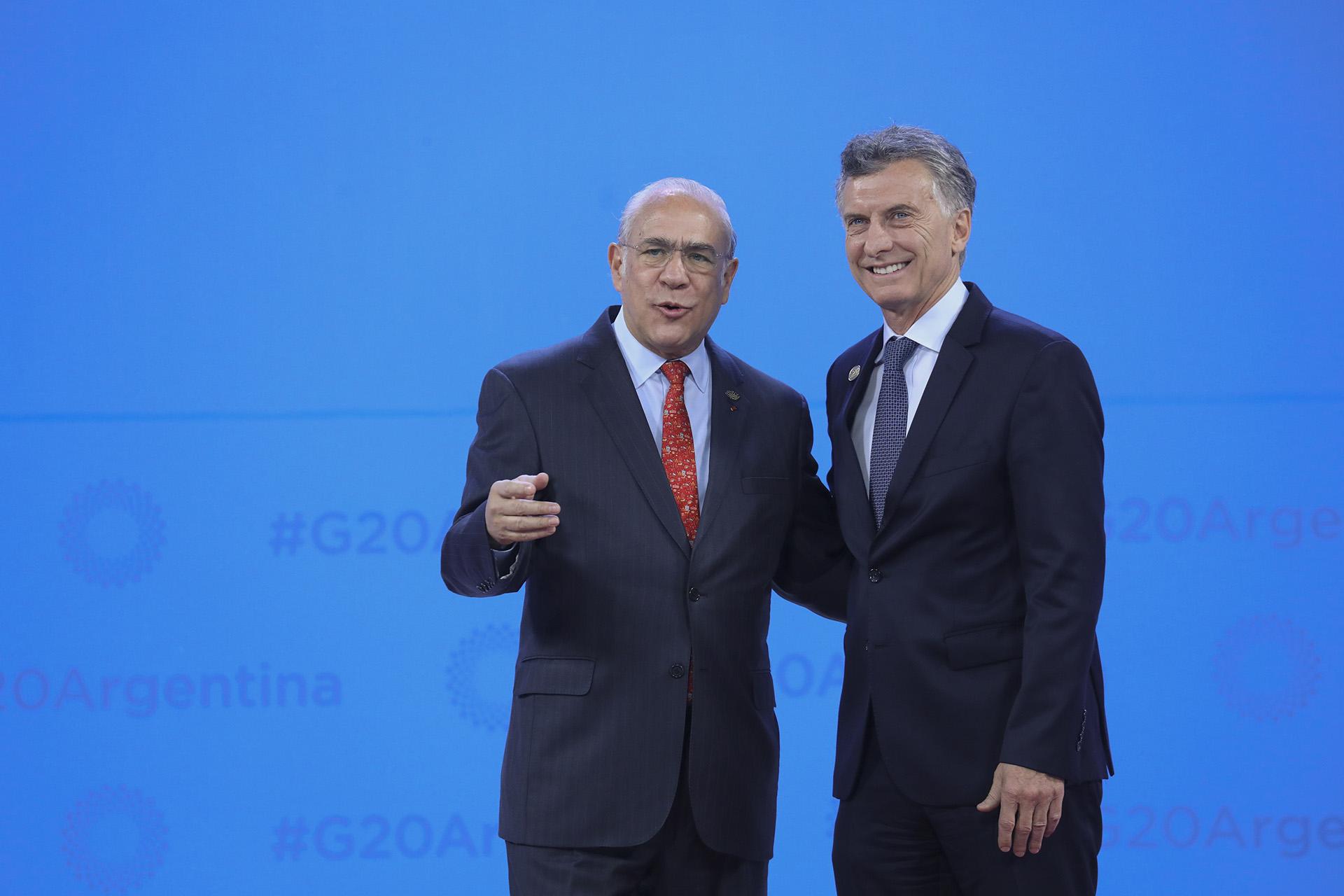 El secretario general de la OCDEAngel Gurria con Macri