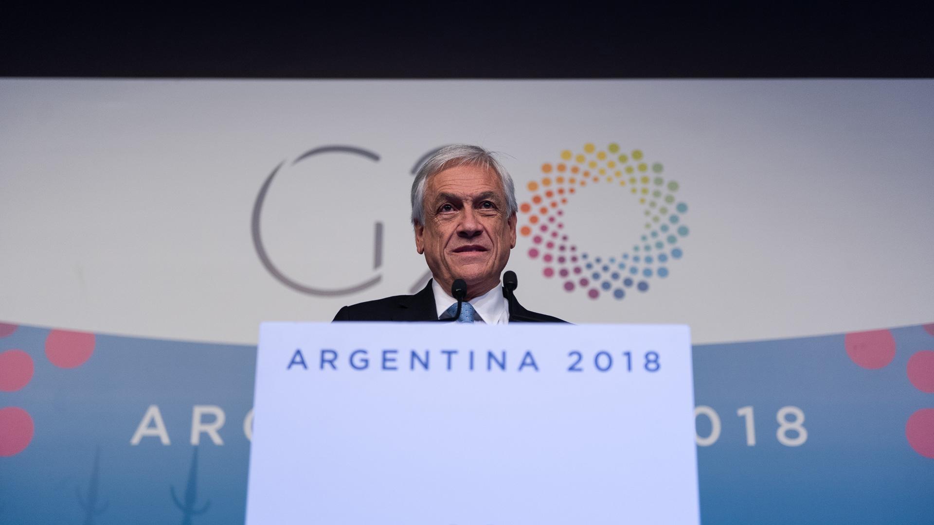 El presidente de Chile Sebastián Piñera
