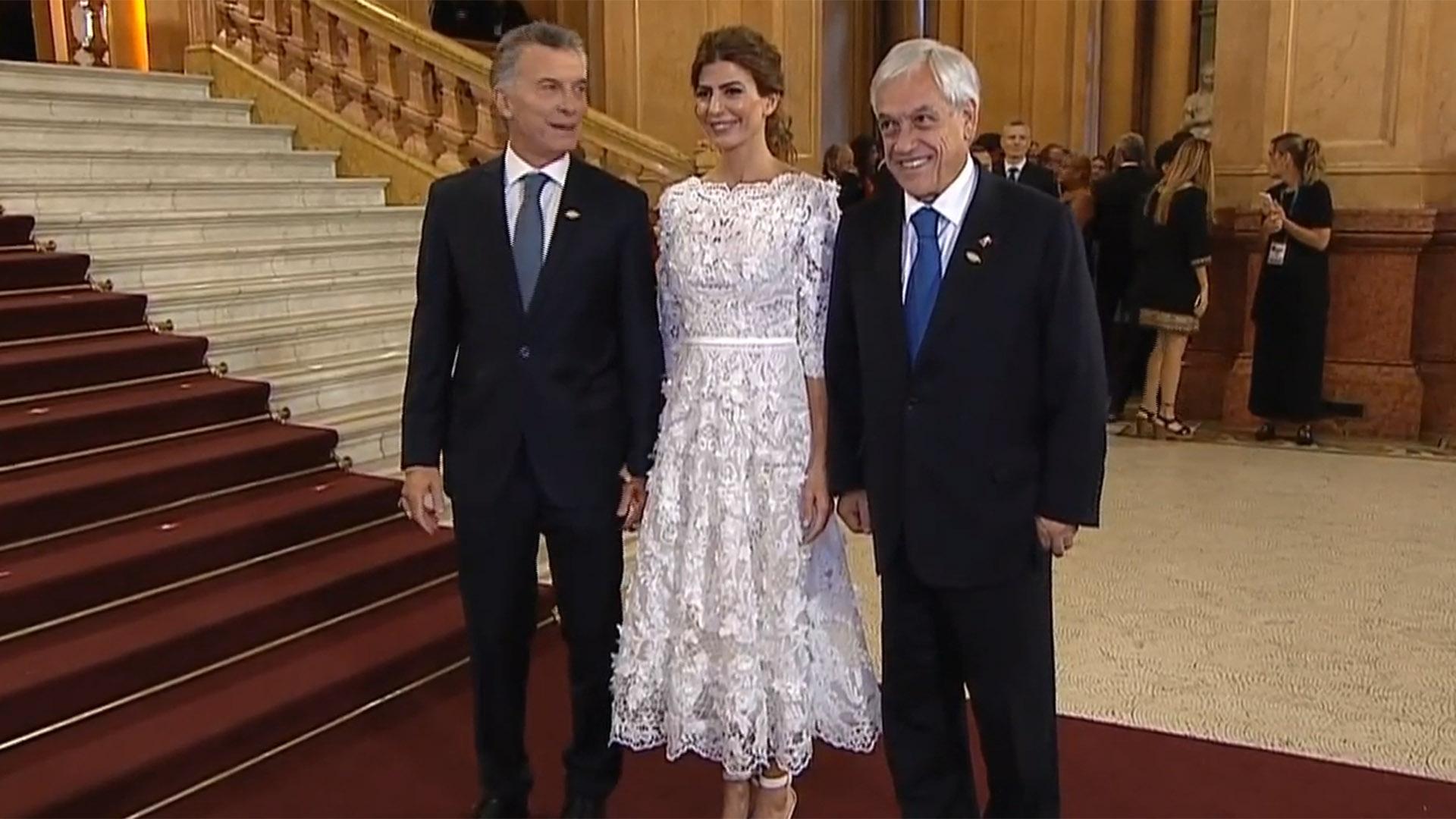 Macri y Awada junto a Sebastián Piñera