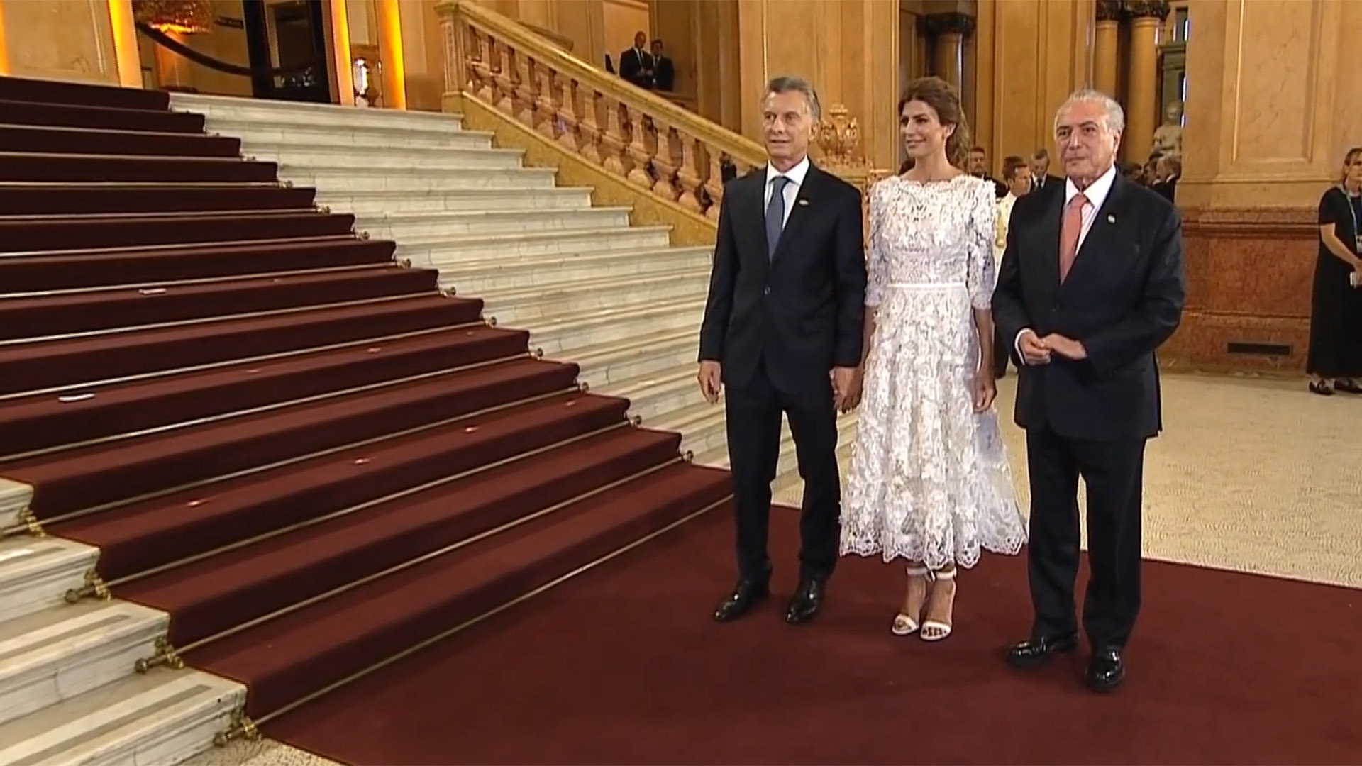 Macri y Awada con Michel Temer
