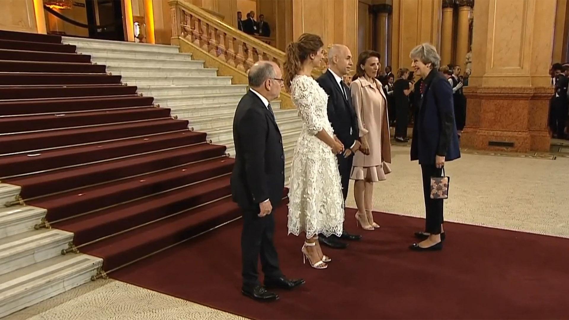 Macri, Awada, Rodríguez Larreta y Diez recibieron a Theresa May