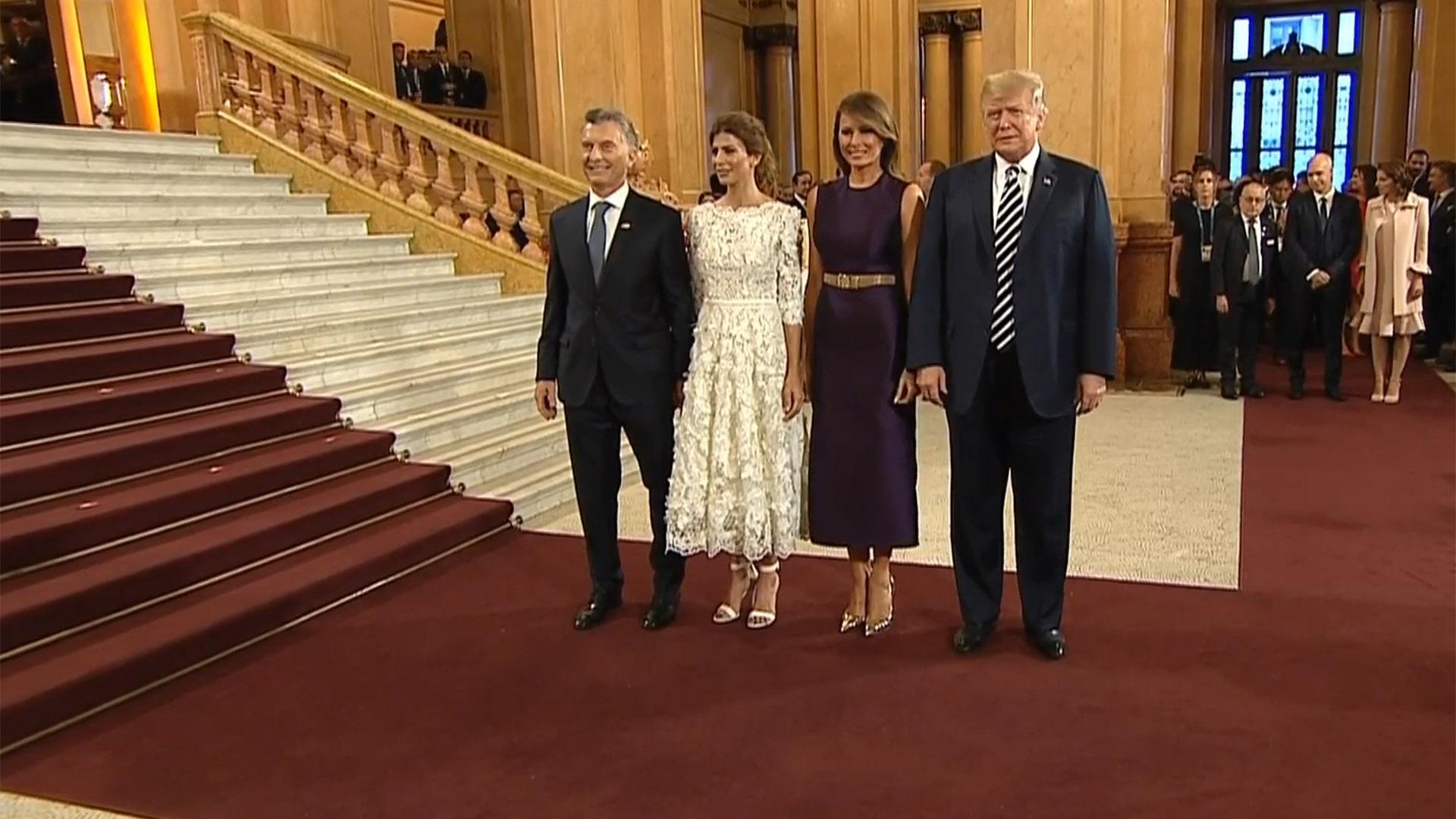 Macri, Awada, Melania Trump y Donald Trump