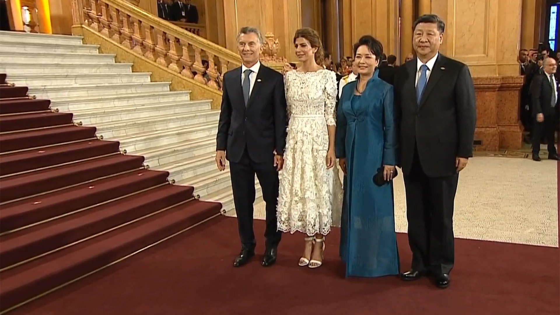 Macri y Awada recibieron a Xi Jinping y su esposa Peng Liyuan
