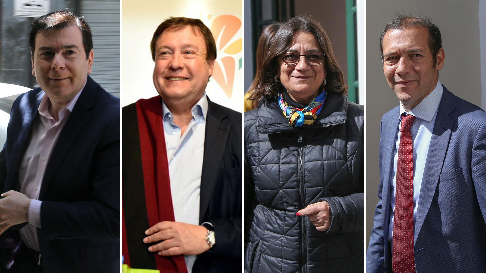 Los gobernadores Gerardo Zamora, Alberto Weretilnek, Lucía Coorpacci y Omar Gutiérrez