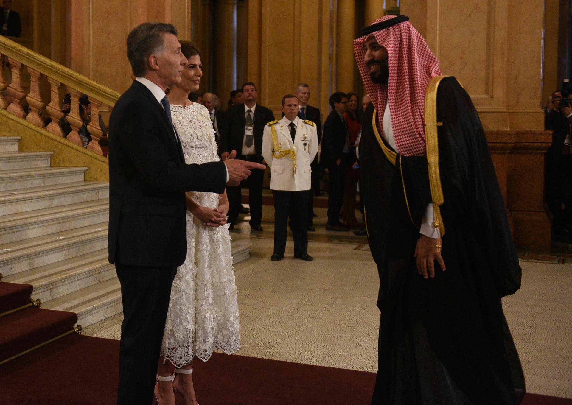 El saludo de Macri a Mohammed bin Salman
