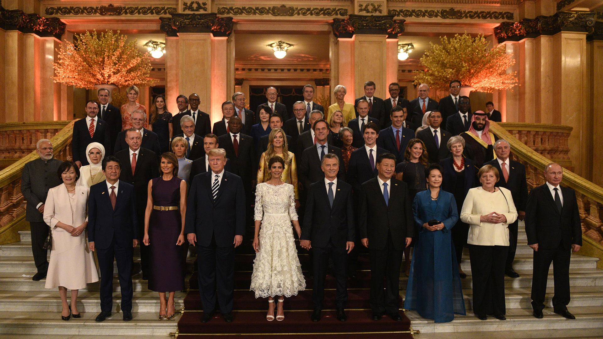 La foto grupal de los participantes del G20