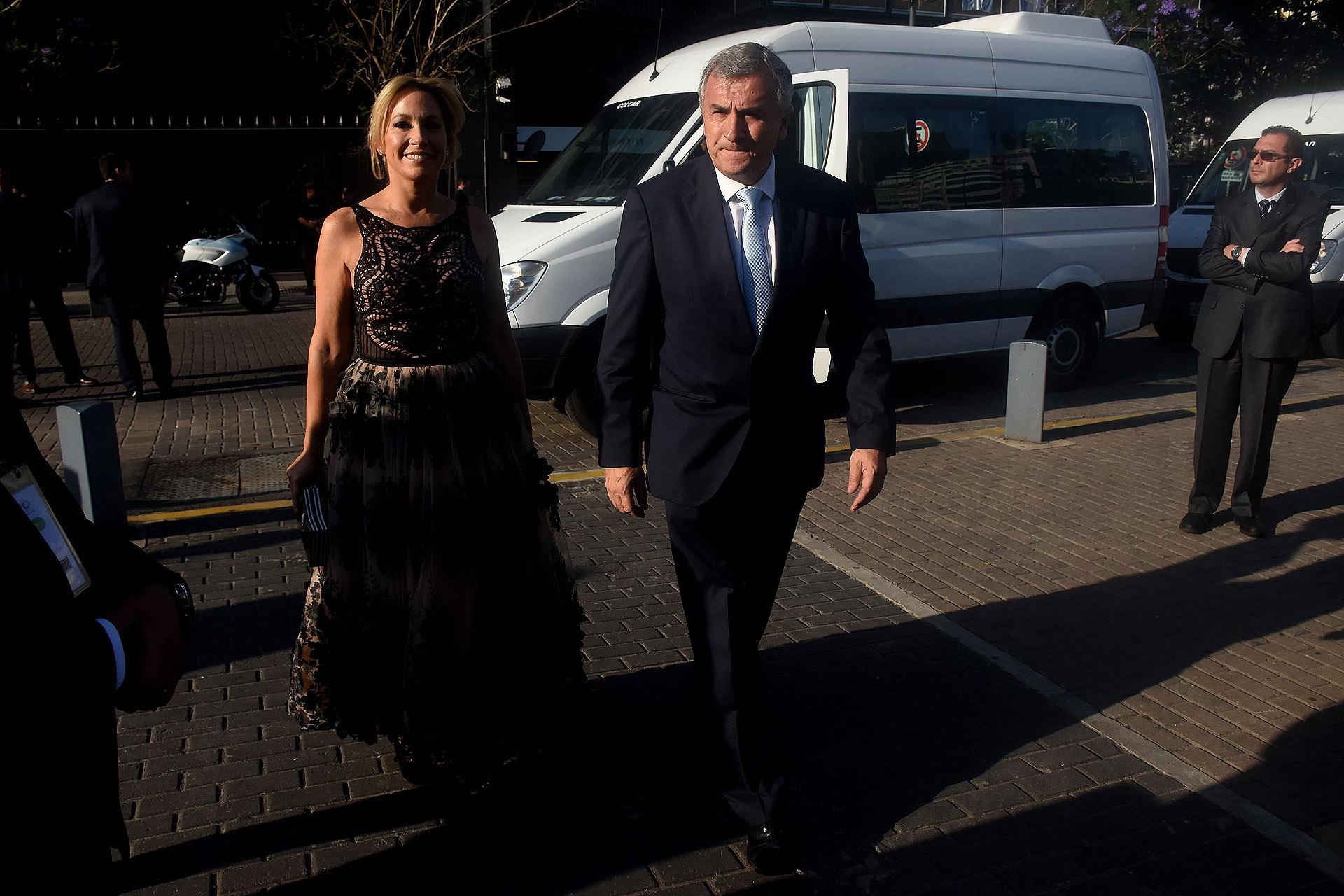 La llegada del gobernador de Jujuy, Gerardo Morales