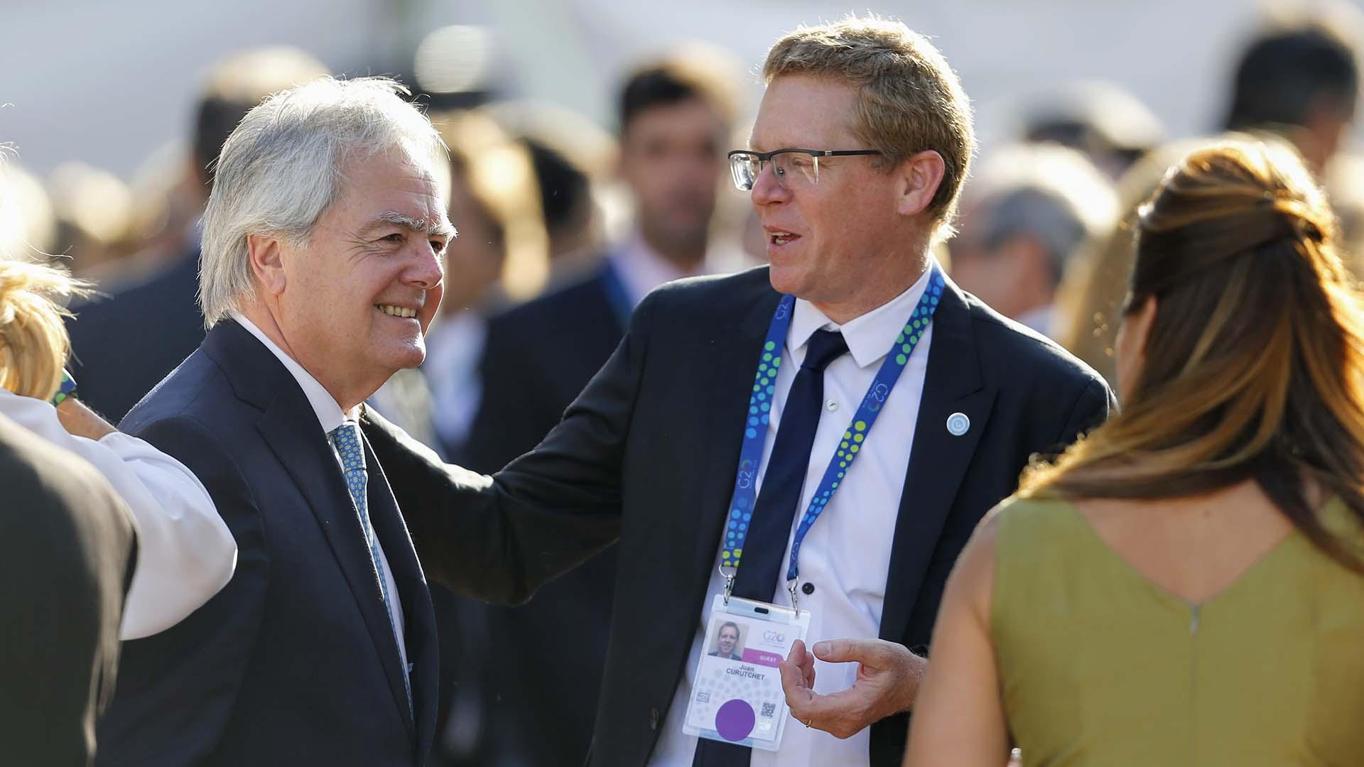 Federico Pinedo y el presidente del Banco Provincia, Juan Curuchet