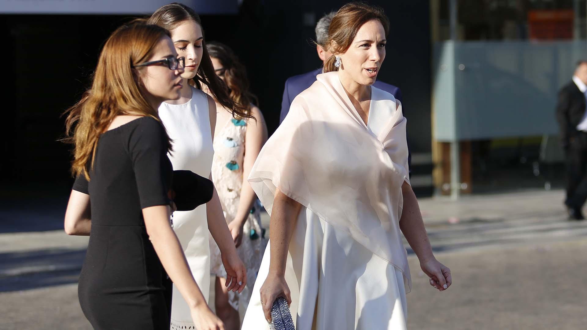 La gobernadora María Eugenia Vidal participó de la gala en el Teatro Colón