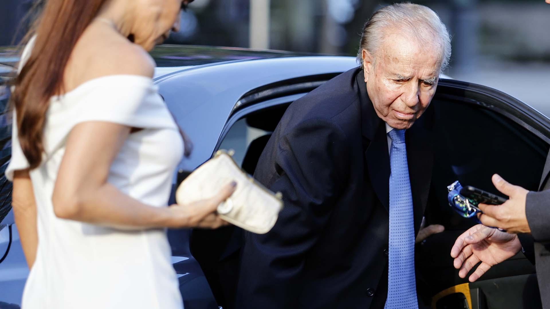 El ex presidente Carlos Menem estuvo en el Colón